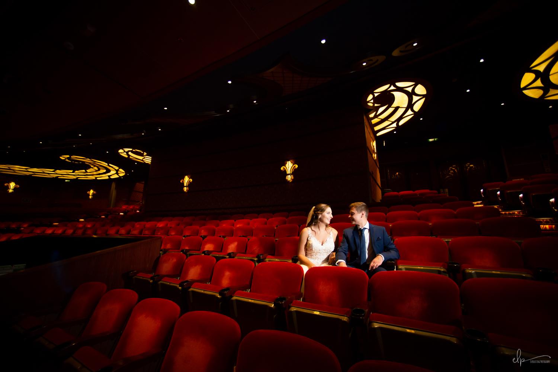 Walt disney theater wedding photos on disney dream cruise
