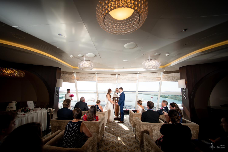 outlook lounge wedding on disney cruise line