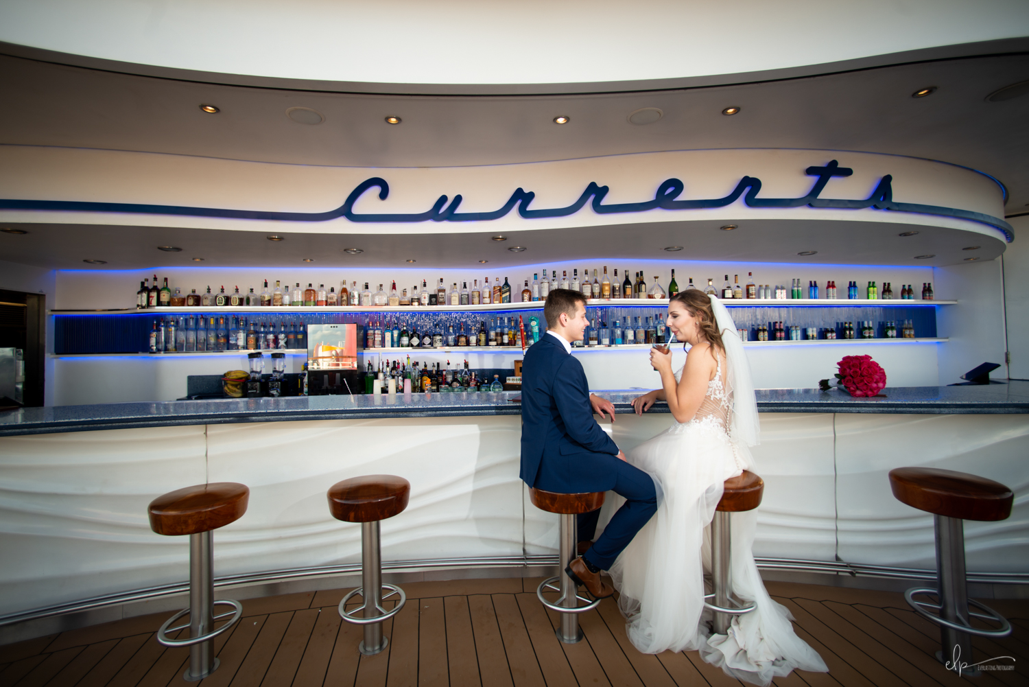 wedding photography at currents on disney cruise line