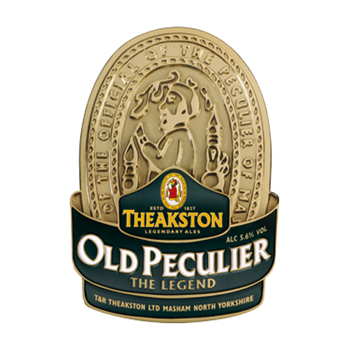 Old Peculier - 5.6%The beer that made Masham famous – rich, dark and smooth tasting, with a character all of its own.Distinctive banana and black cherry aroma leading to a magnificent Christmas pudding kaleidoscope of flavour. Rich, smooth and sweet.Click here for more info on Theakston Brewery