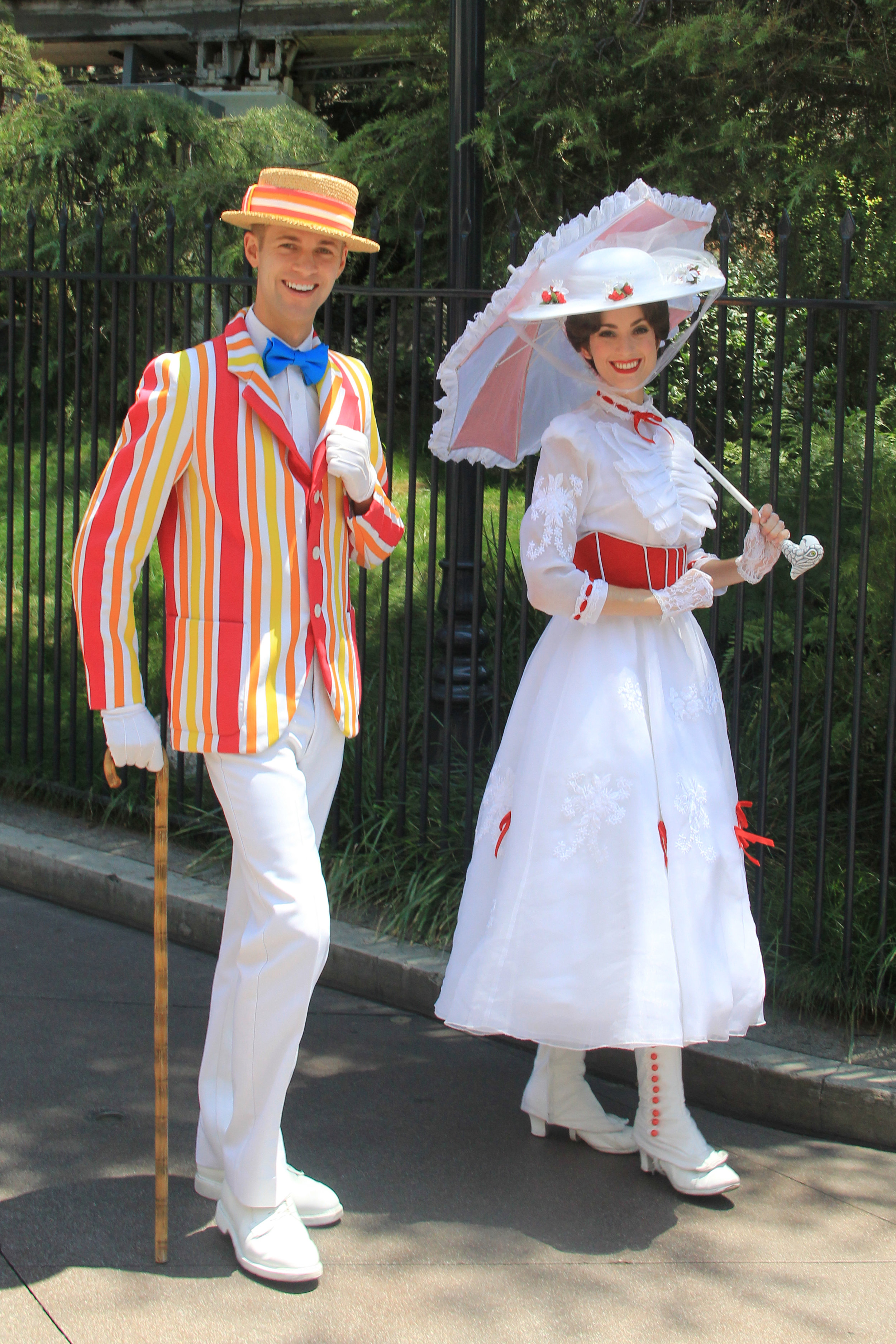 Bert and Mary Poppins at Disneyland