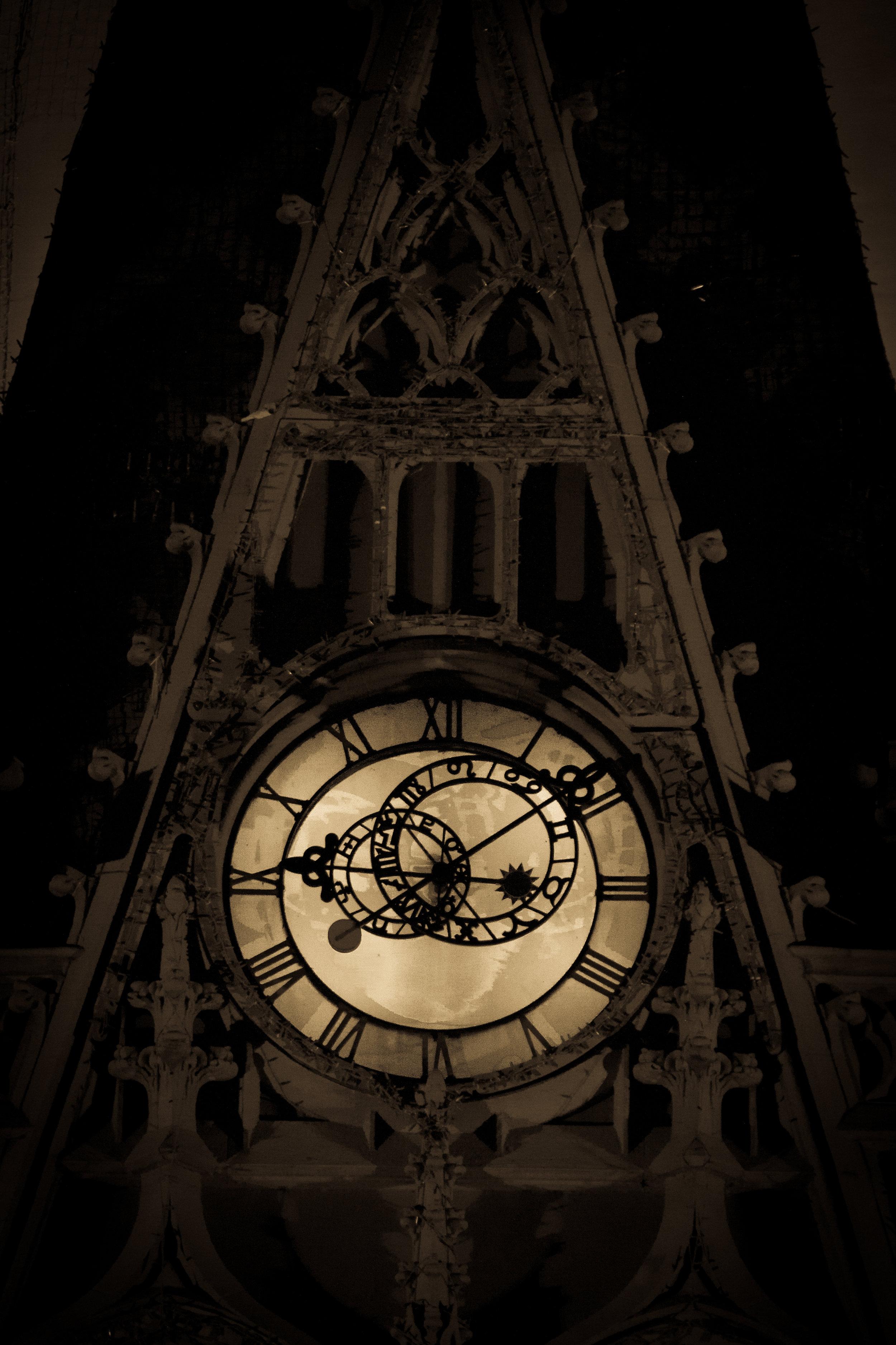 The clocktower at Cinderella's Castle