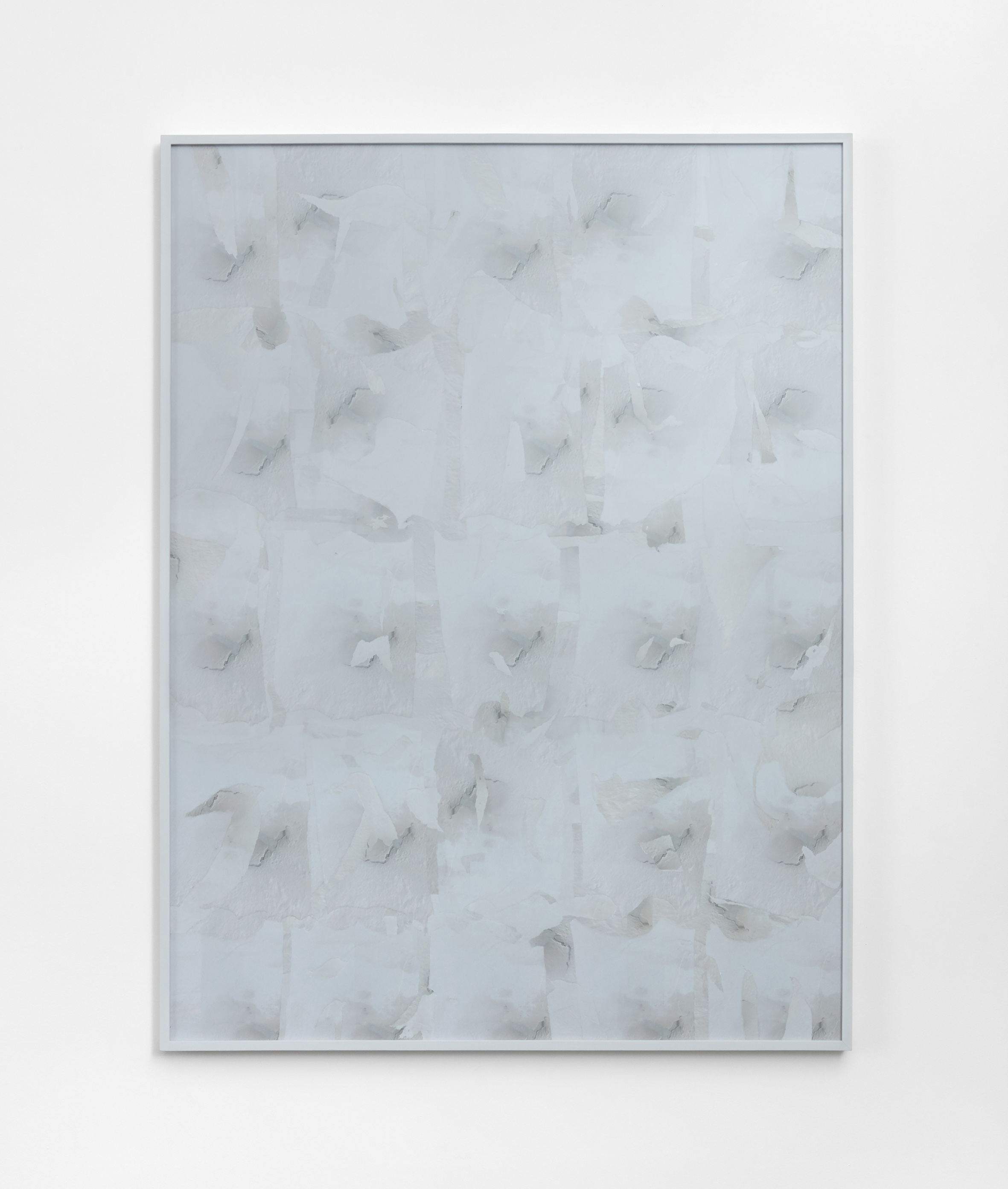 Patrick Foster  Ceiling collage 2, 2017  Inkjet collage, glass, artist's frame, 120 x 90 cm