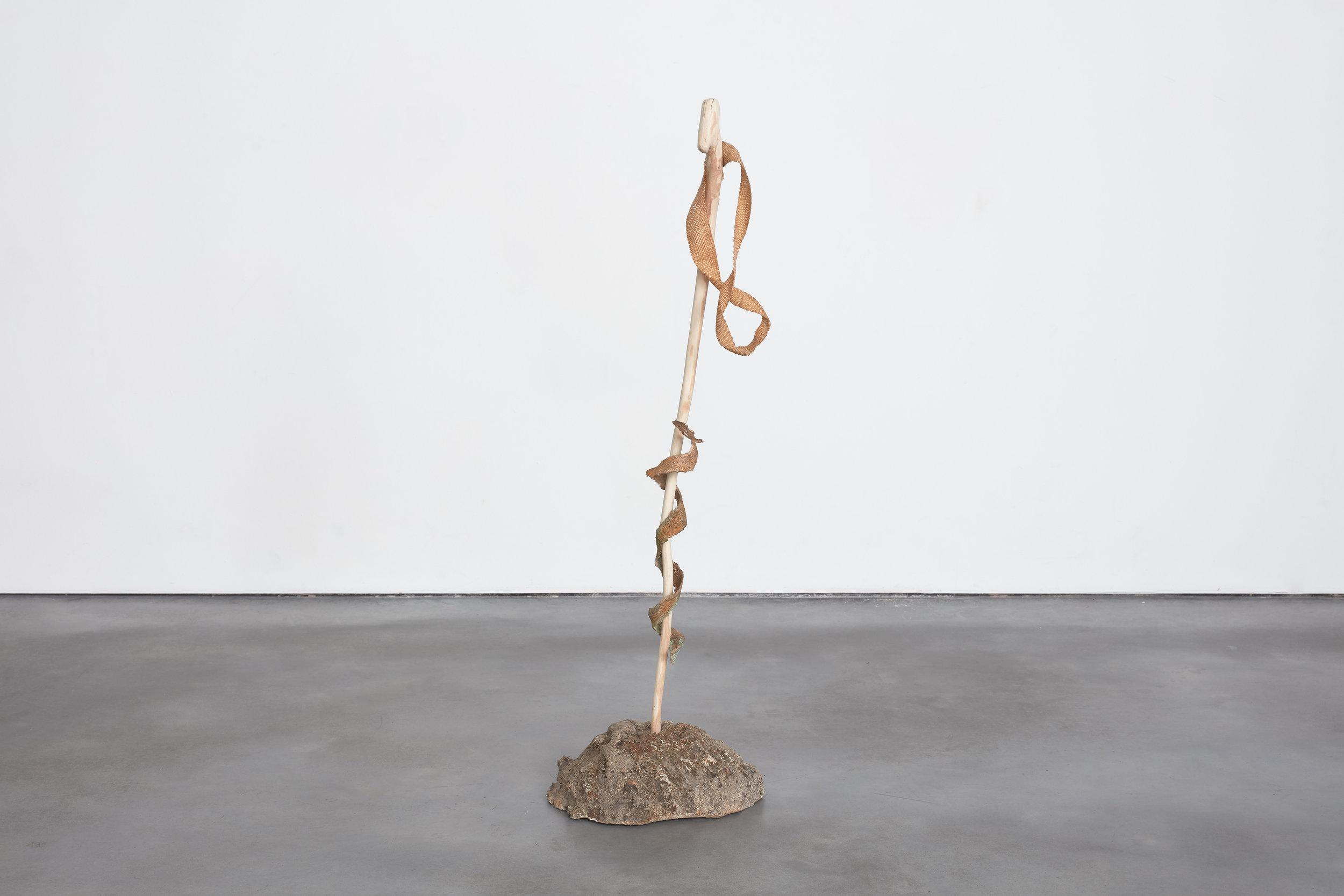 Auger, Augur  Gypsum cast fox hole, iron, wood, synthetic sinew, bronze  2018