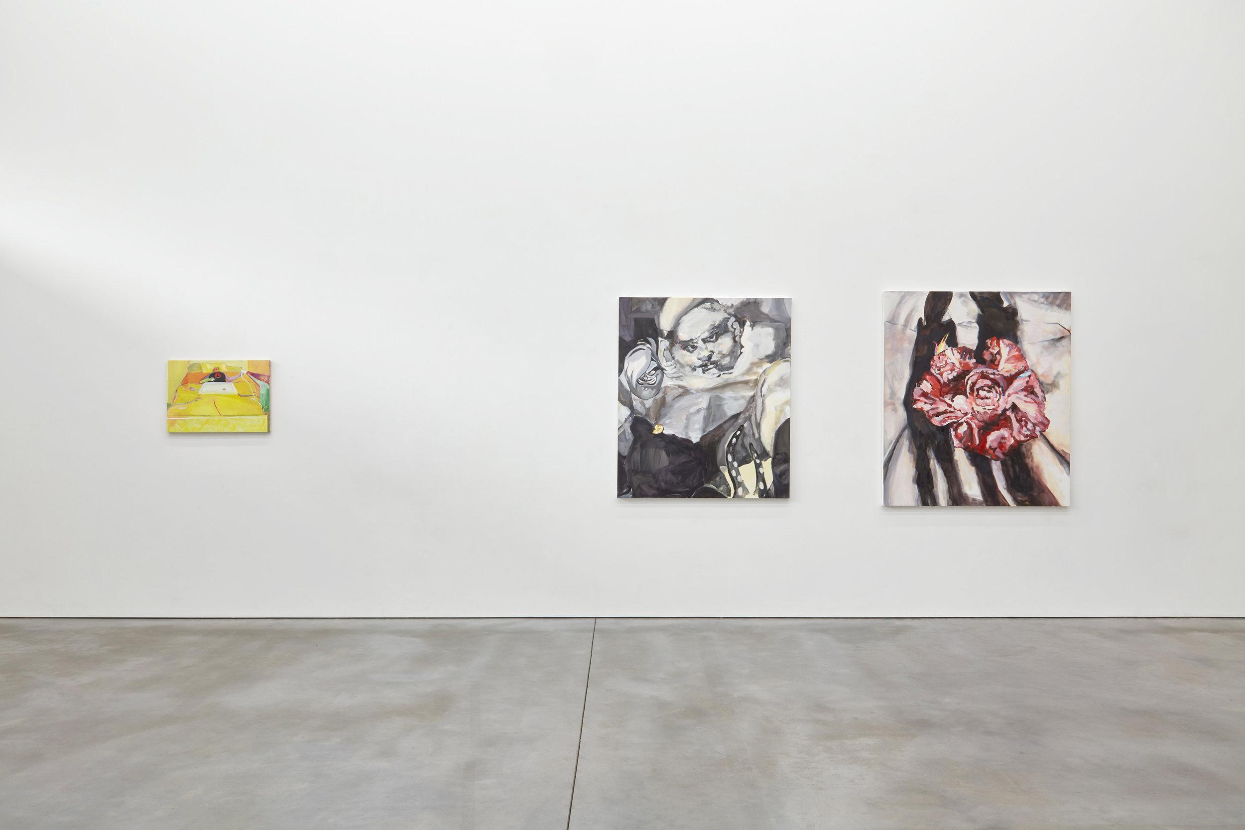 Exhibition view, Gabriella Boydd (left) Sara Knowland (right)