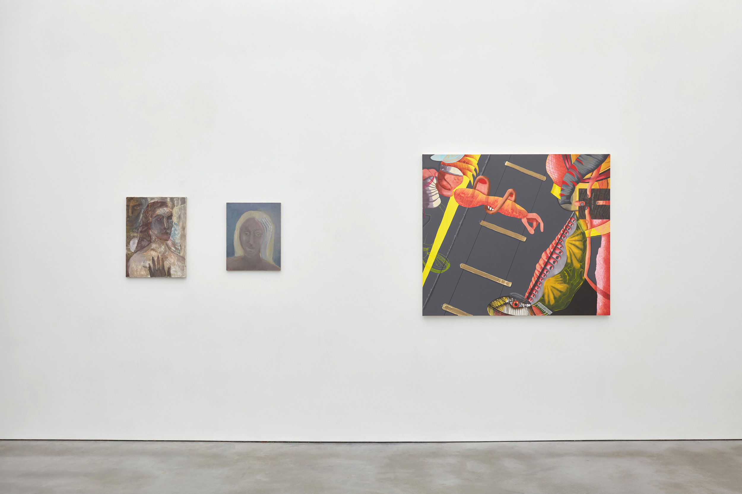 Exhibition view, Barbara Wesolowska (left) Tom Worsfold (left)