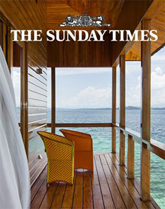World's most exclusive holidays   El Sweet Bocas is perched on stilts over a jade-colored Caribbean Sea.