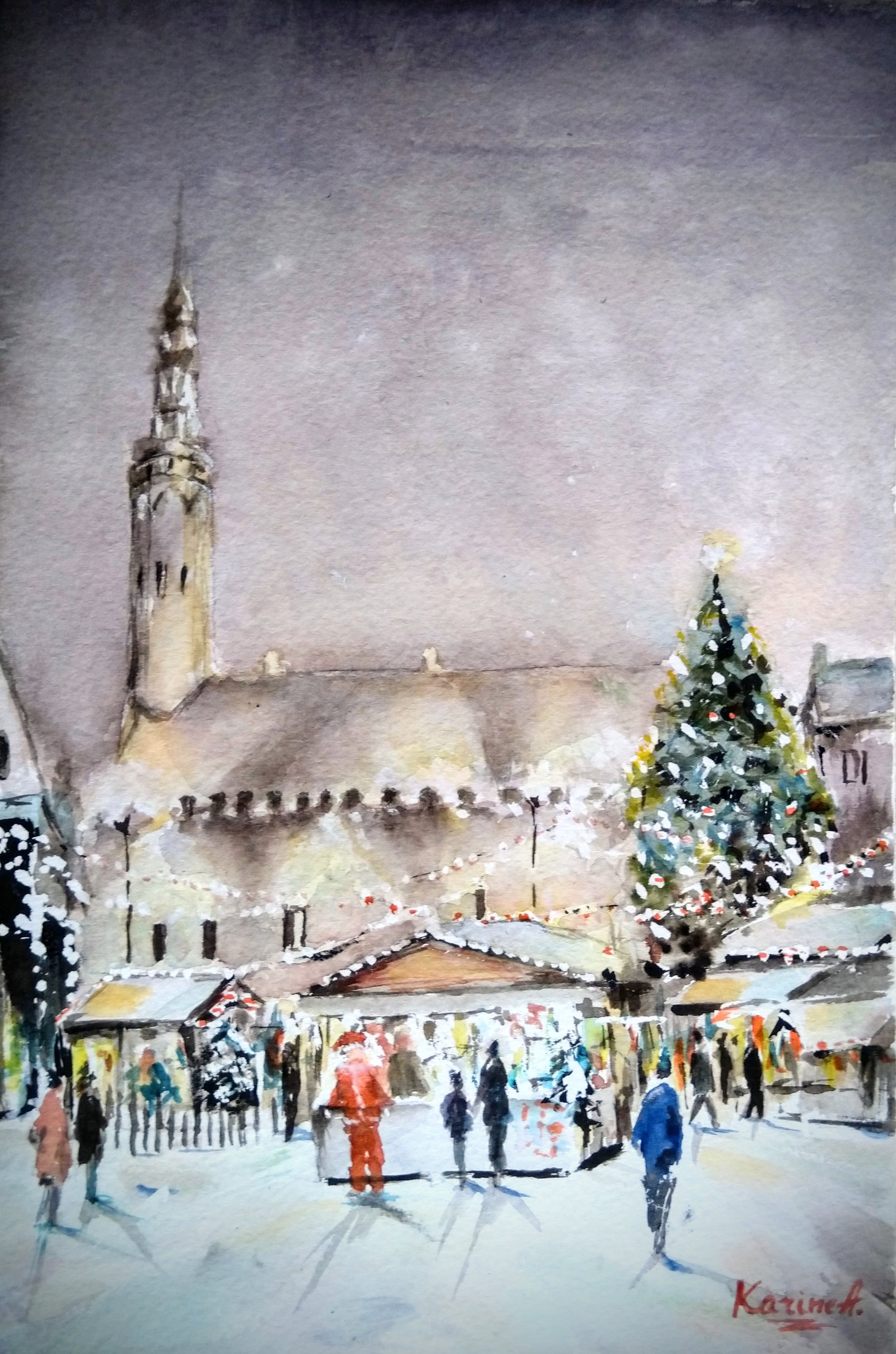 Christmas Fair. The work that got an Editor's pick in Artists and Illustrators mag.