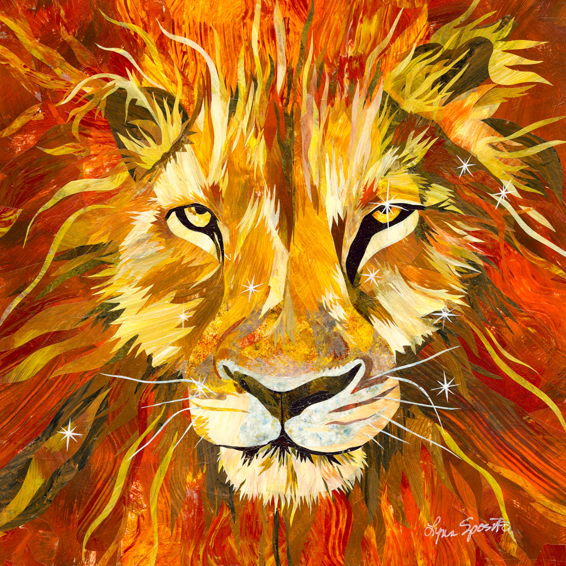 LEO- Zodiac Series- Original Art-AVAILABLE