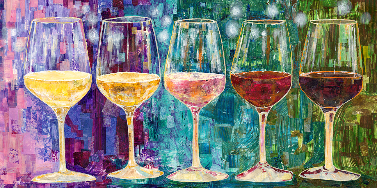Wine Lover's Series- Flight of Fancy- Original Art- AVAILABLE