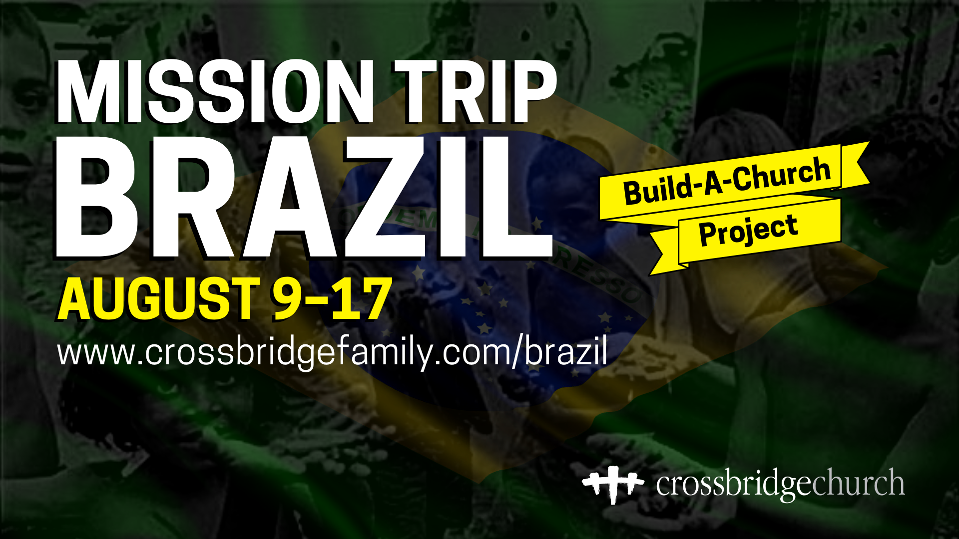 Short-term Mission Trip to BRAZIL this August 9-17. We're partnering with Memorial Presbyterian Church just outside Recife-PE, to bring one of their newest church-plant's construction to completion in the very poor city of Carnaíba. We'll also be collecting and delivering lightly used clothes and school supplies. We'll also be hosting and leading an open-air evangelism service (sharing our testimony and preaching the gospel) for the whole town in to consecutive nights. This is going to be an incredible experience! A lifetime chance to witness what God is doing around the world. For just $1,000 everything is included (Airfare, Ground transport, Lodging, all Meals). Crazy value! a $100 deposit will be due Wednesday, May 15th, final payment by June 24th. There will be 3 team-trip-meetings leading up to it. Get your PASSPORTS up to date, sign up and SAVE YOUR SPOT NOW