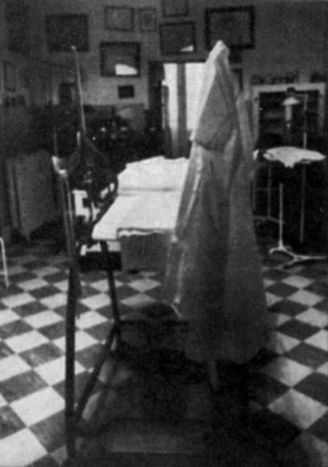 """The room where Dr. Spencer committed abortions.  Picture from """"The Angel of Ashland: Practicing Compassion and Tempting Fate"""" book."""