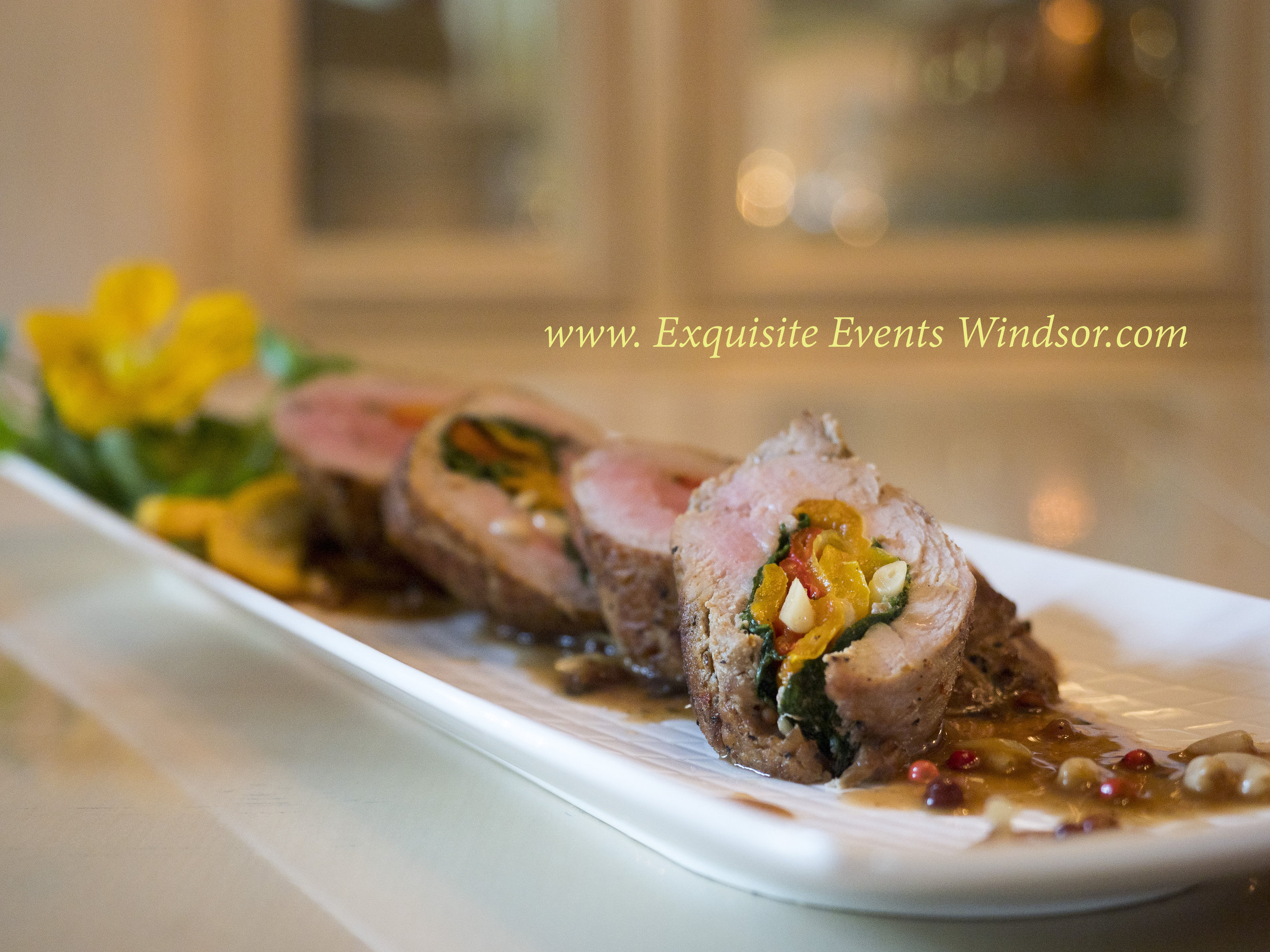 Exquiste Events Windsor Caterer Roast Pork Tenderloin Roulade.jpg