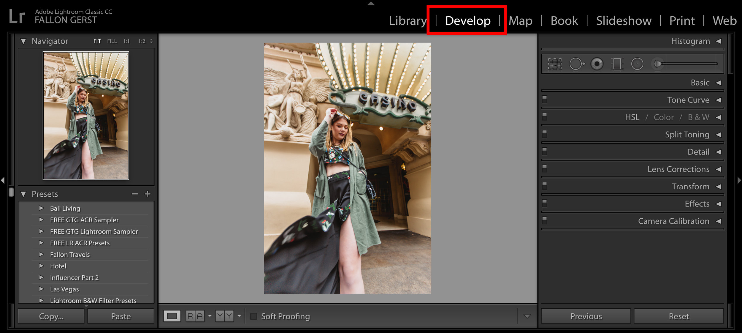 Develop Module In Adobe Lightroom