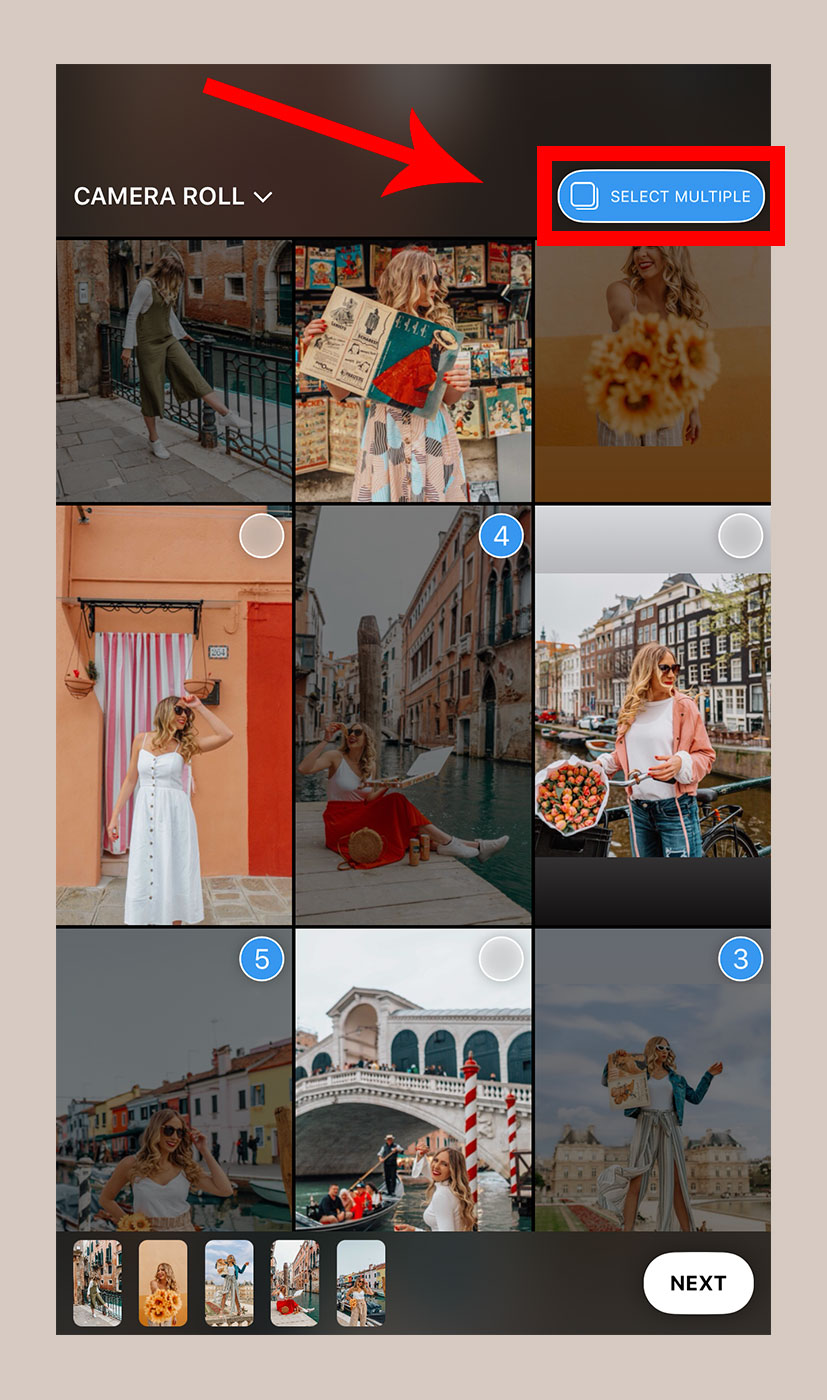 How to add multiple photos to Instagram Story