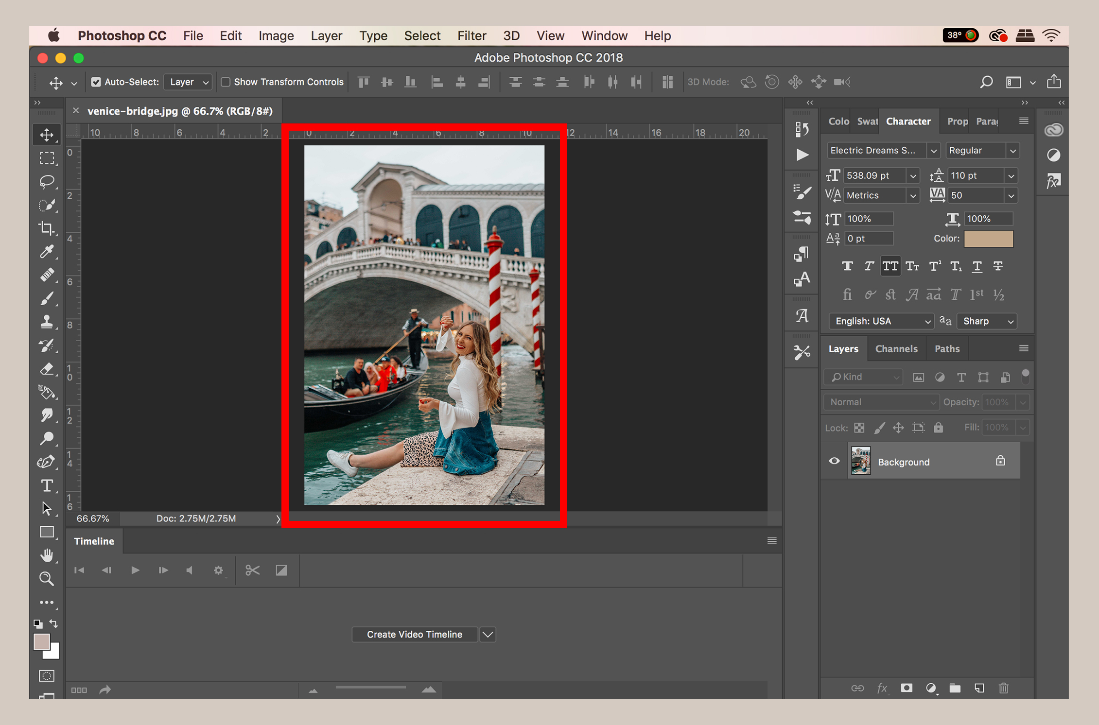 How to open an image in Photoshop