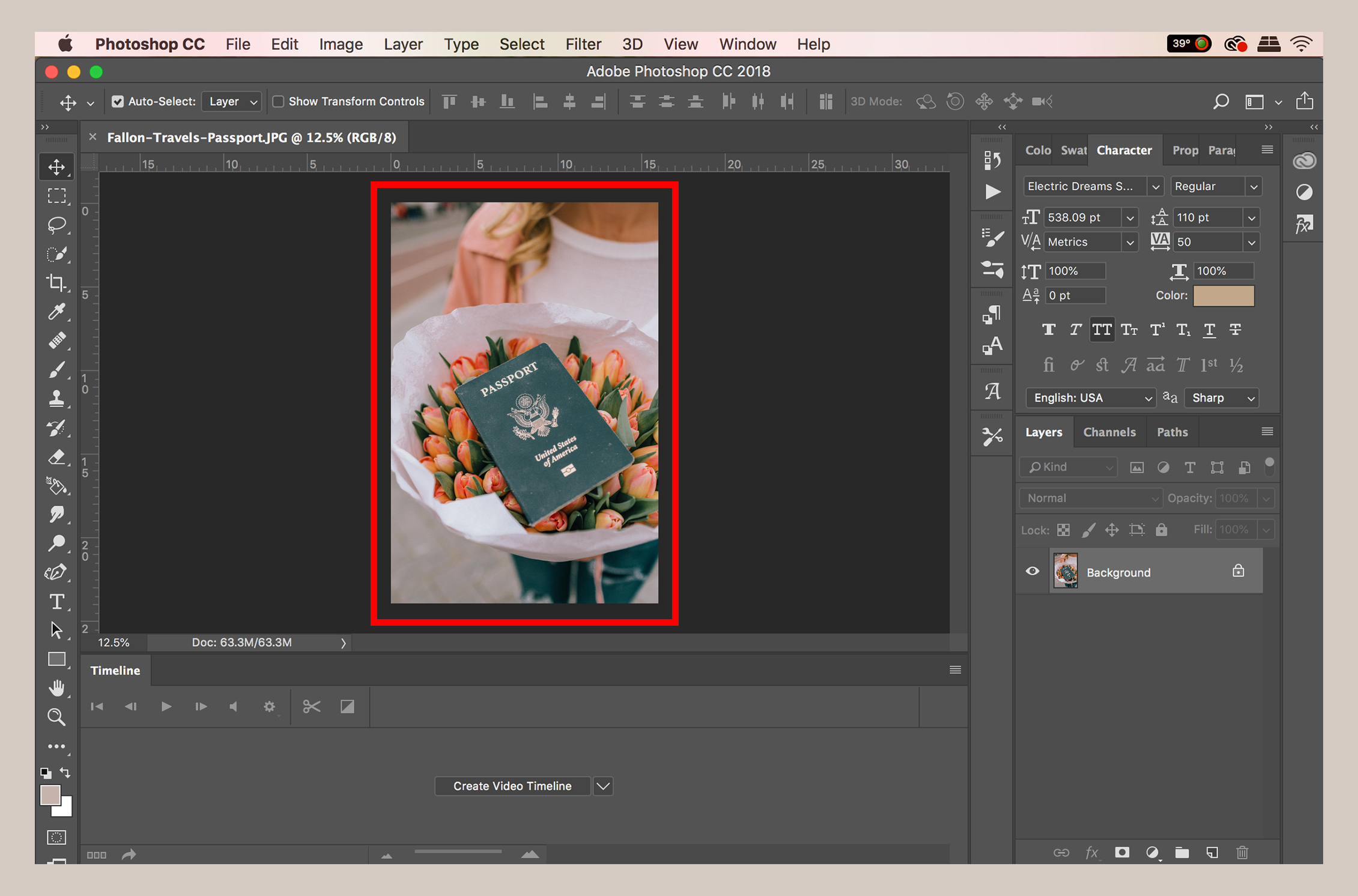 How to add an image to Photoshop