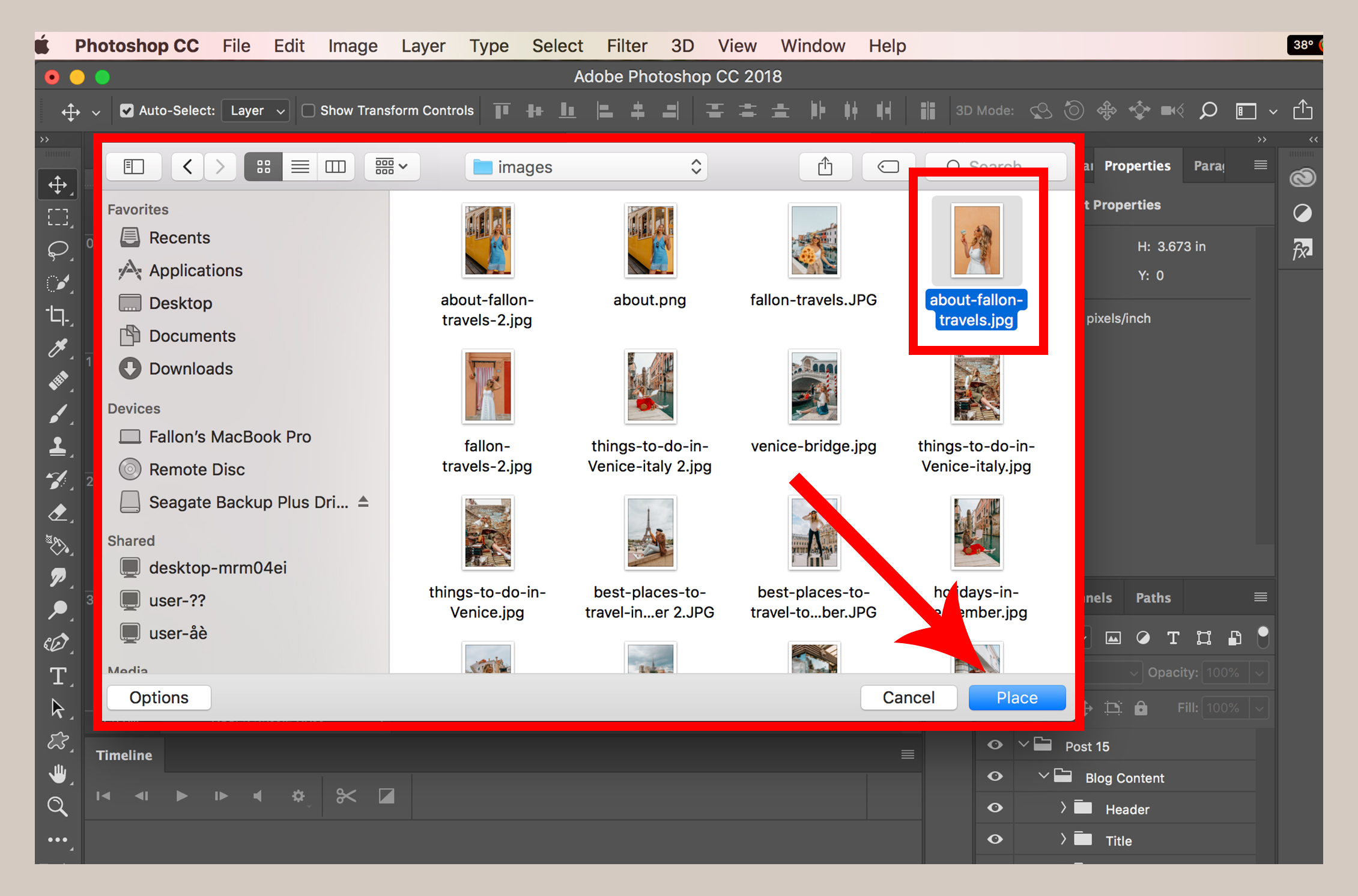 How to add image in Photoshop