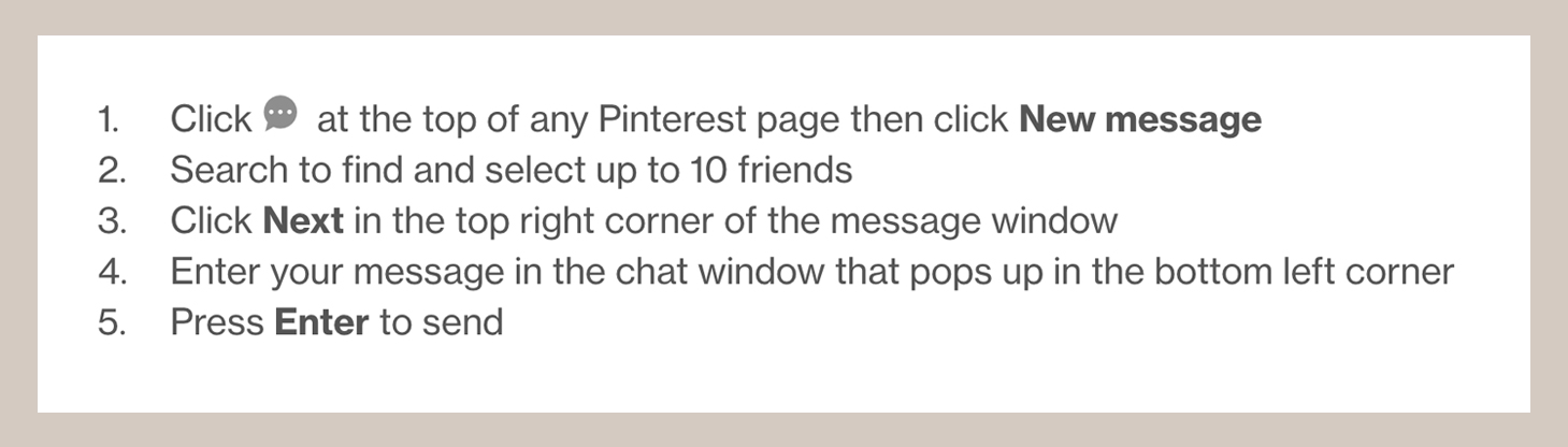 How to message someone on Pinterest