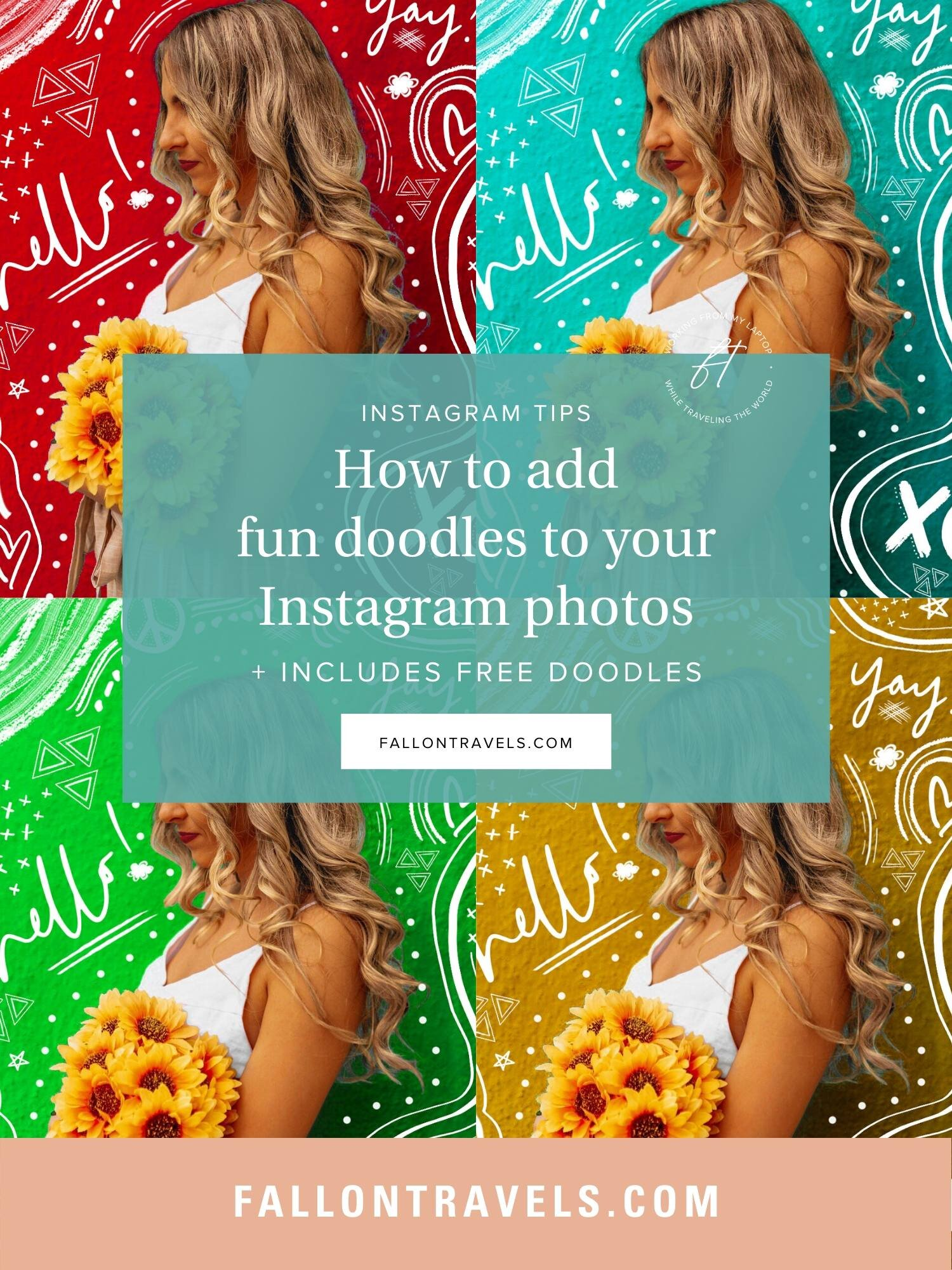 how to add doodles and outlines to instagram photos