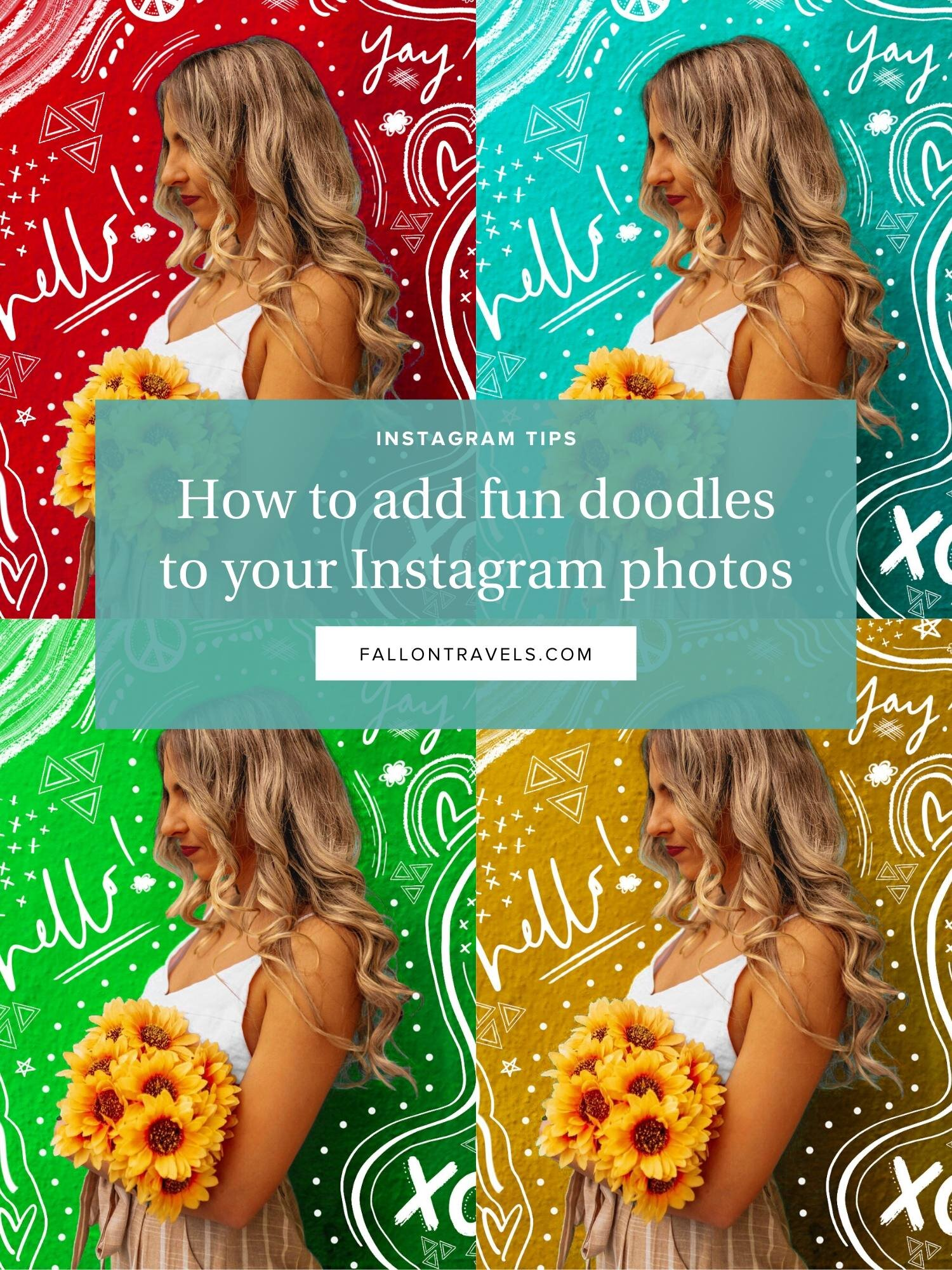 how to to canva to add fun doodles to instagram photos