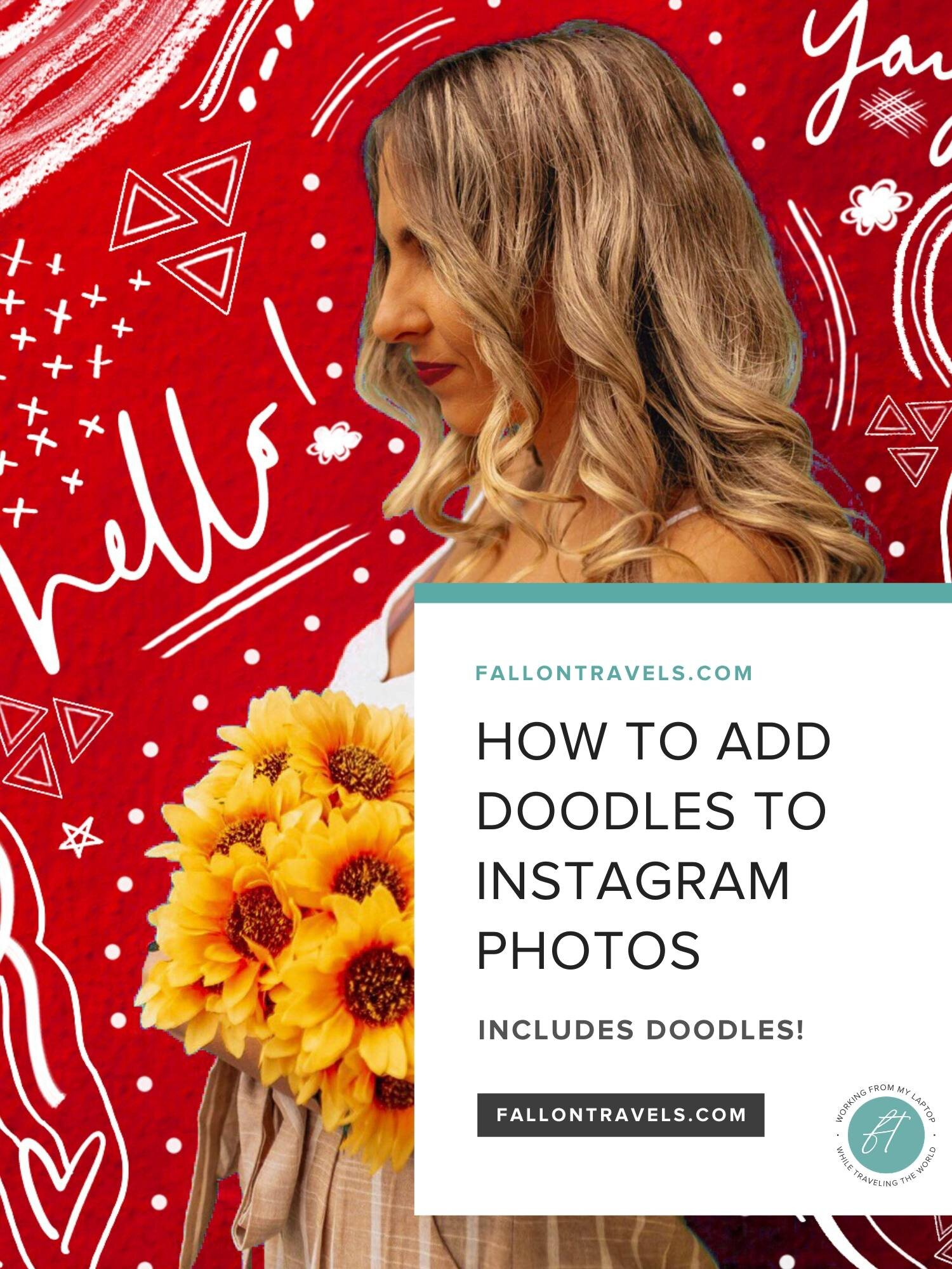 add fun doodles and outlines to instagram photos