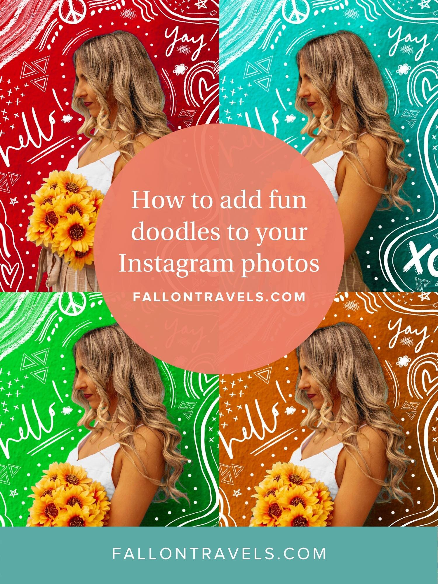 how to add fun doodles to instagram photos