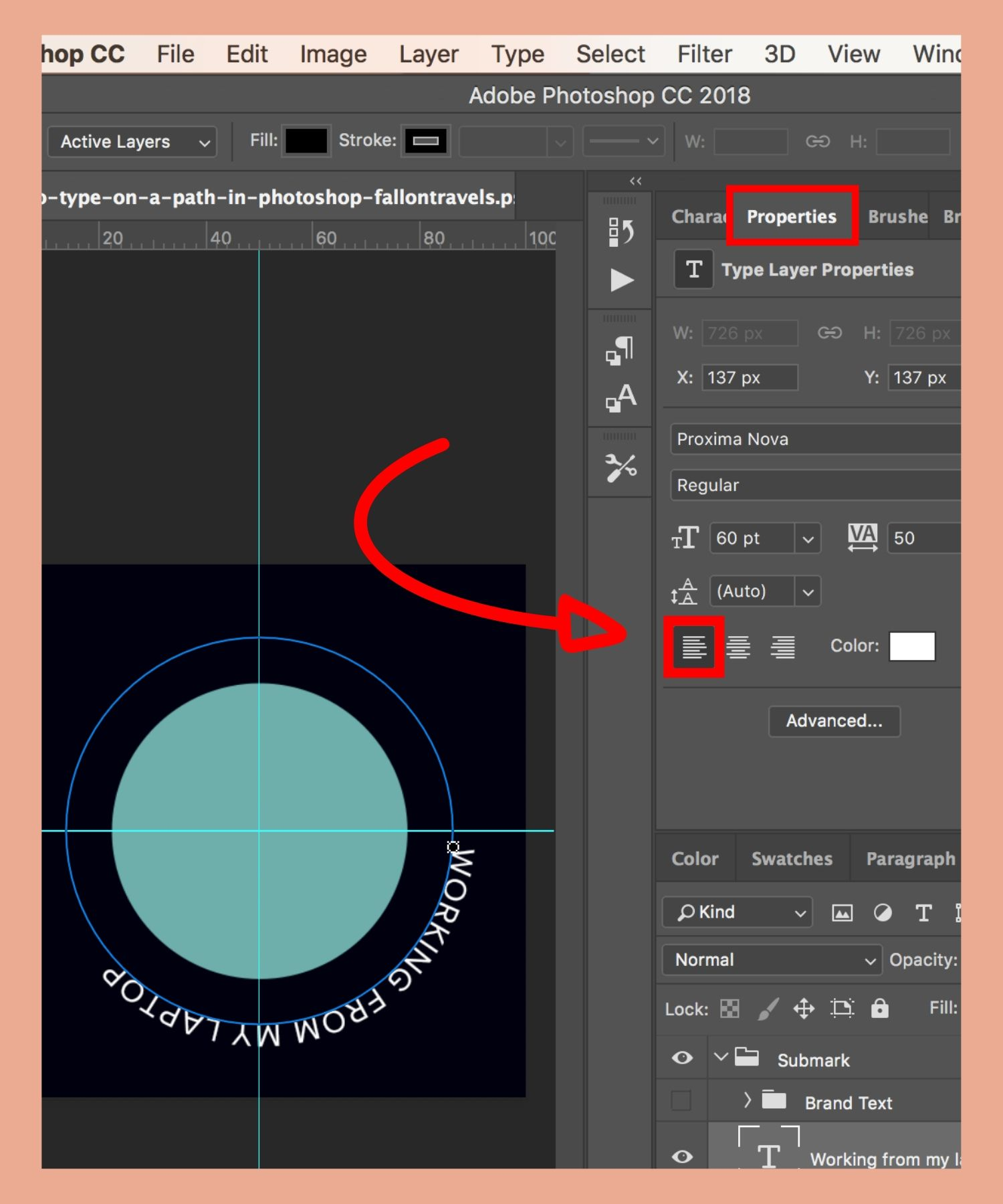 how to curve text in photoshop