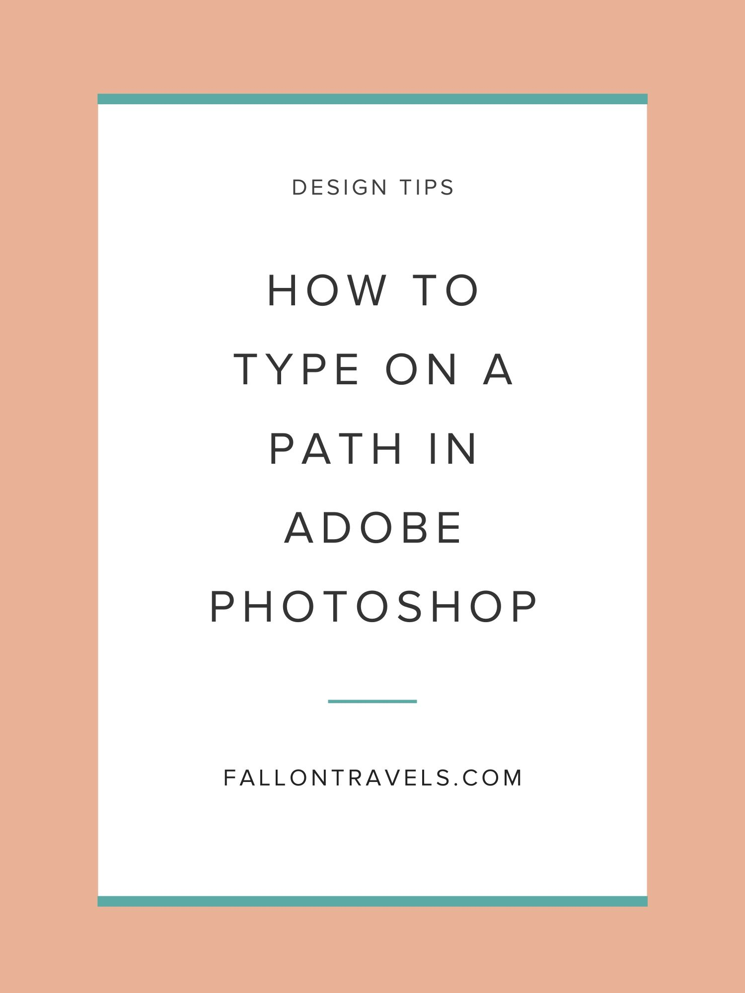 How to type on a path in Photoshop