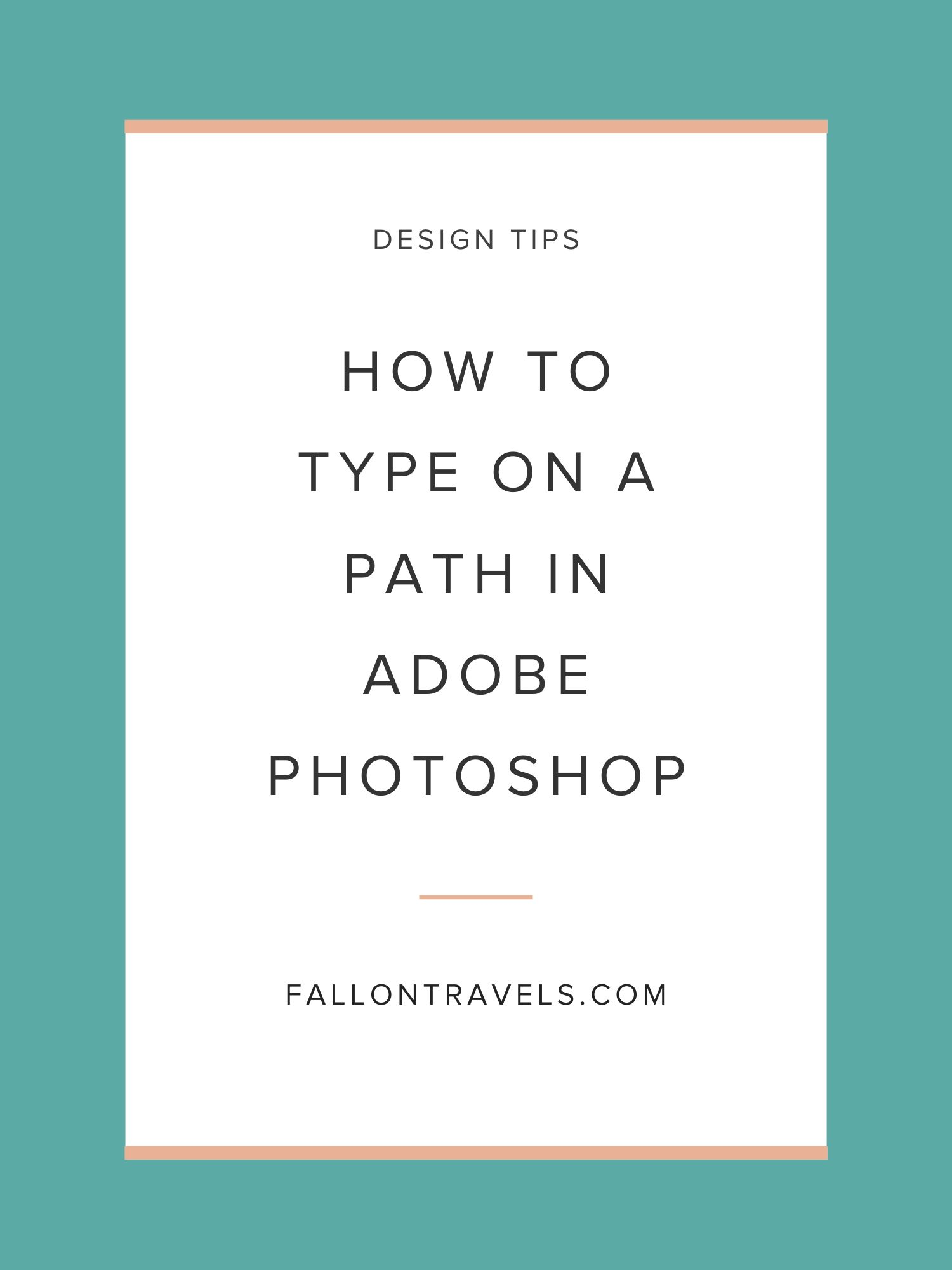 type on a path in Photoshop