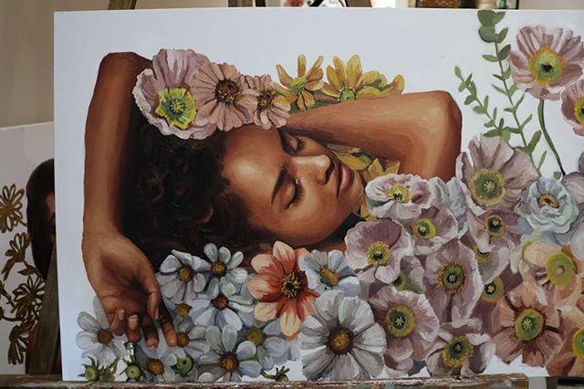 It's like when Dorothy fell asleep in the poppies. 😴 . . . . . . . . . . . . . . . . . . . . . . . . . . . . . . . . . #flowerpainting #flowerart #flowers #paintingflowers #poppies #flower #oilpaintings #oilpainting #christinagineris #art #beautifulbizarre #creativeuprising #artwork #painting #paintings #paint #artist #artistoninstagram #canvas #oilpaint #portraitpainting #contemporaryart #artoftheday #artwork🎨 #artworks #wip #floralart #floralartwork #tappancollector #tappancollective