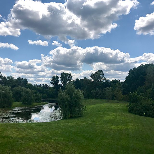 Look at those beautiful clouds! Picture perfect lunch today at Twisted Olive. @zip6570