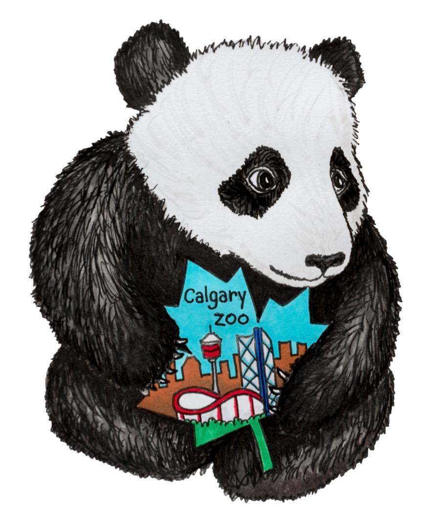 Calgary Zoo baby Giant Panda vinyl sticker