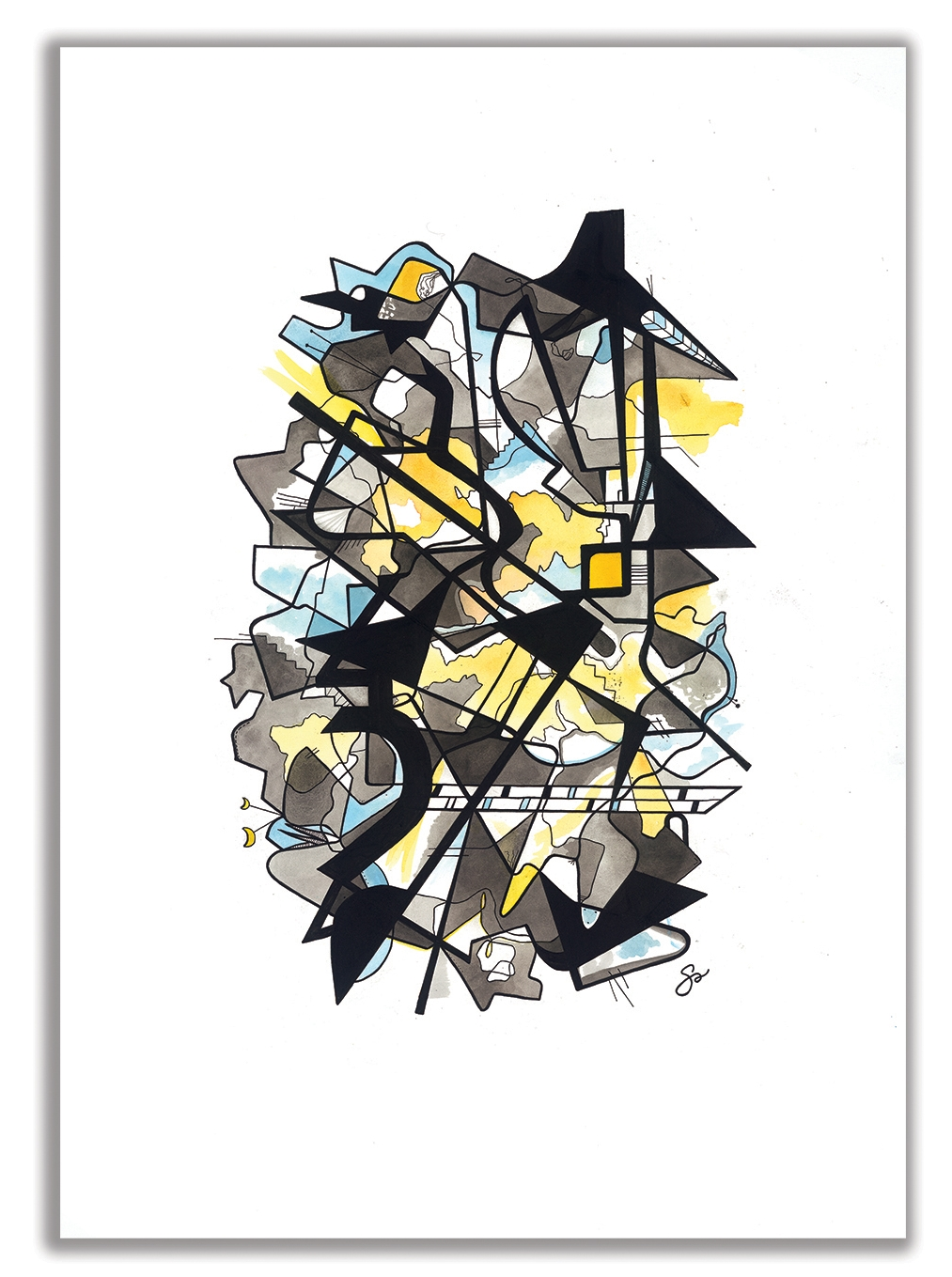 """COMPLICATED  29"""" x 40"""" / Watercolor + Ink Strauss' Burleske –  Oregon Symphony Featuring Emanuel Ax"""