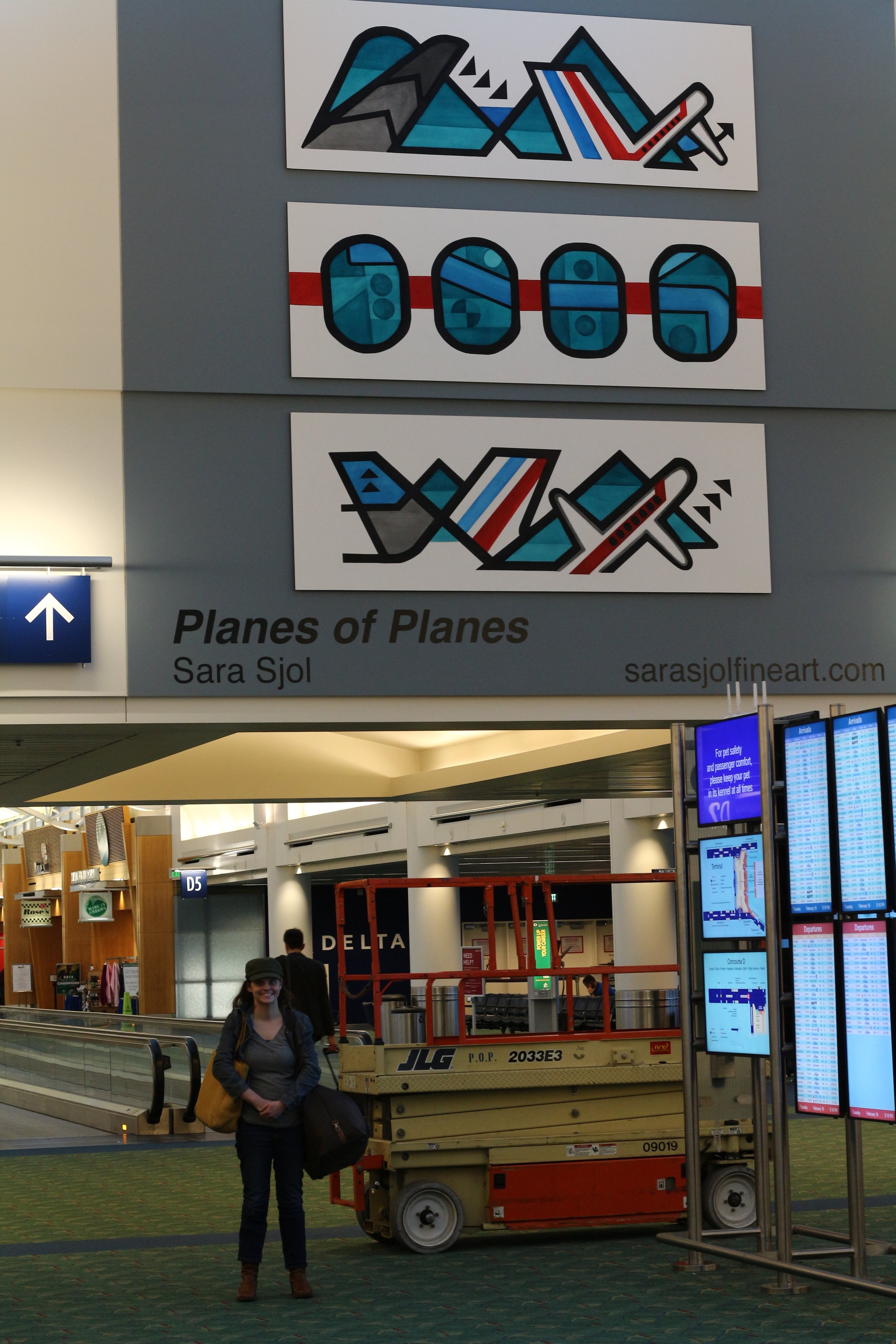 Artist Sara Sjol and   Planes of Planes