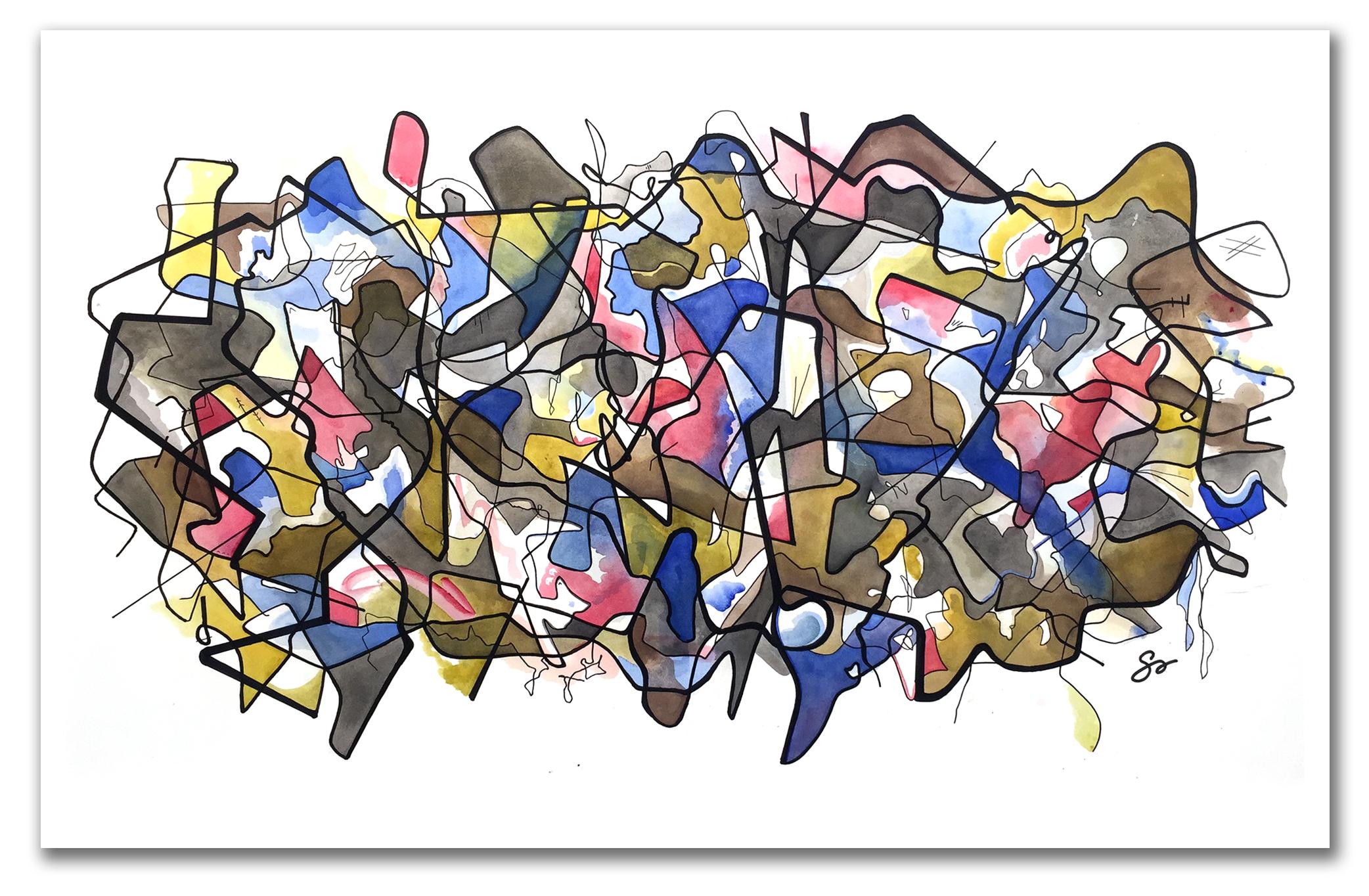 SPIRIT ANIMAL  Watercolor + Ink 37″ x 58″