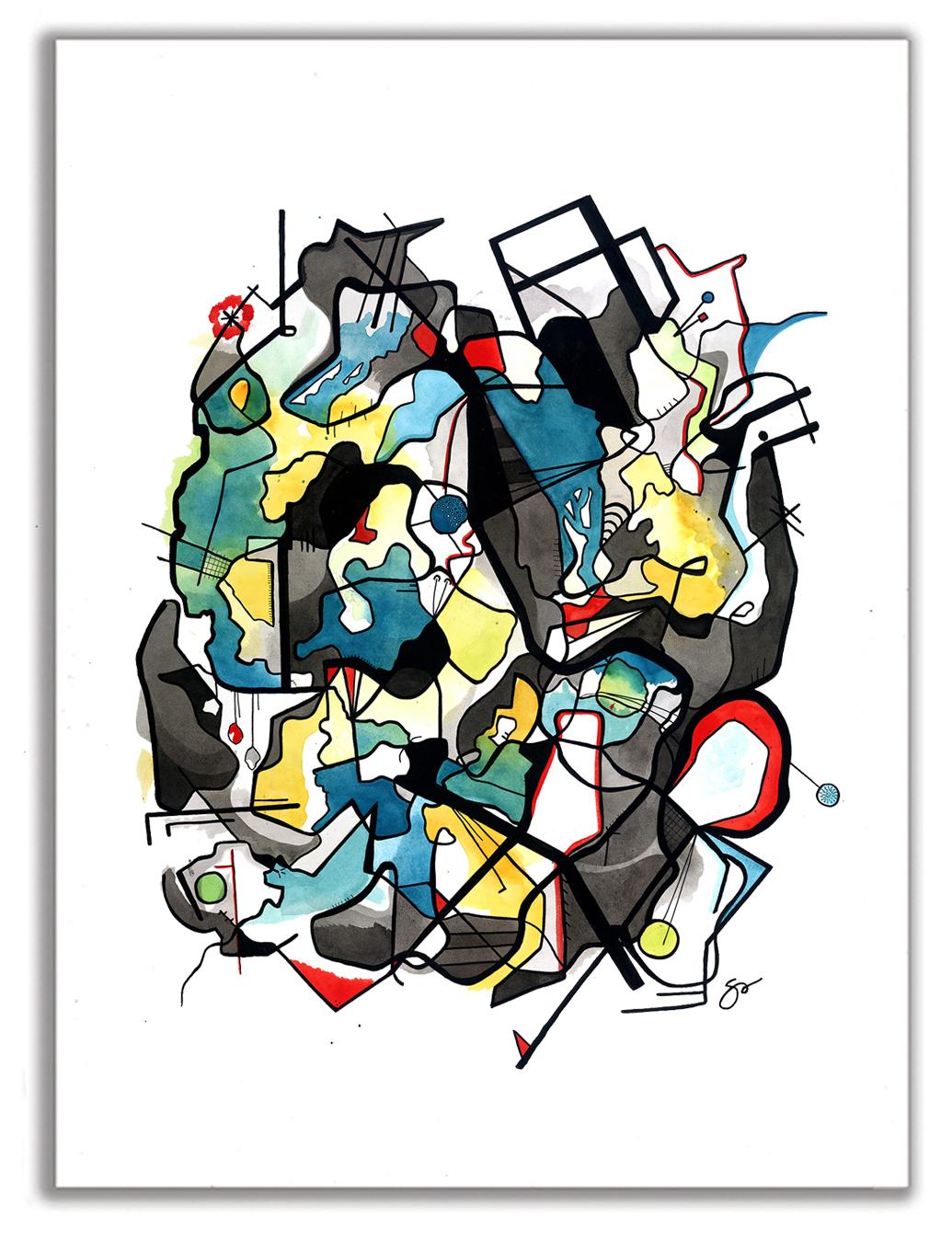 BRAVADO  Watercolor + Ink 40″ x 29″