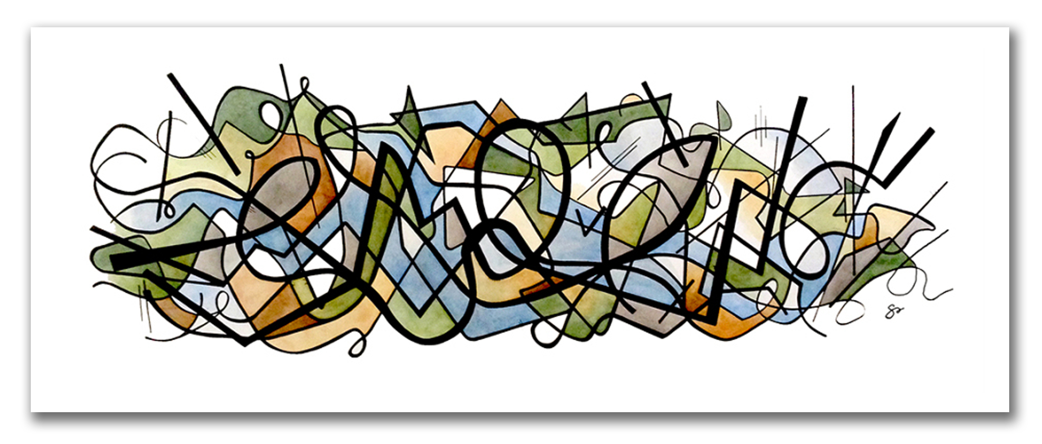IN COMMUNION  (Commission) Watercolor + Ink 24″ x 80″