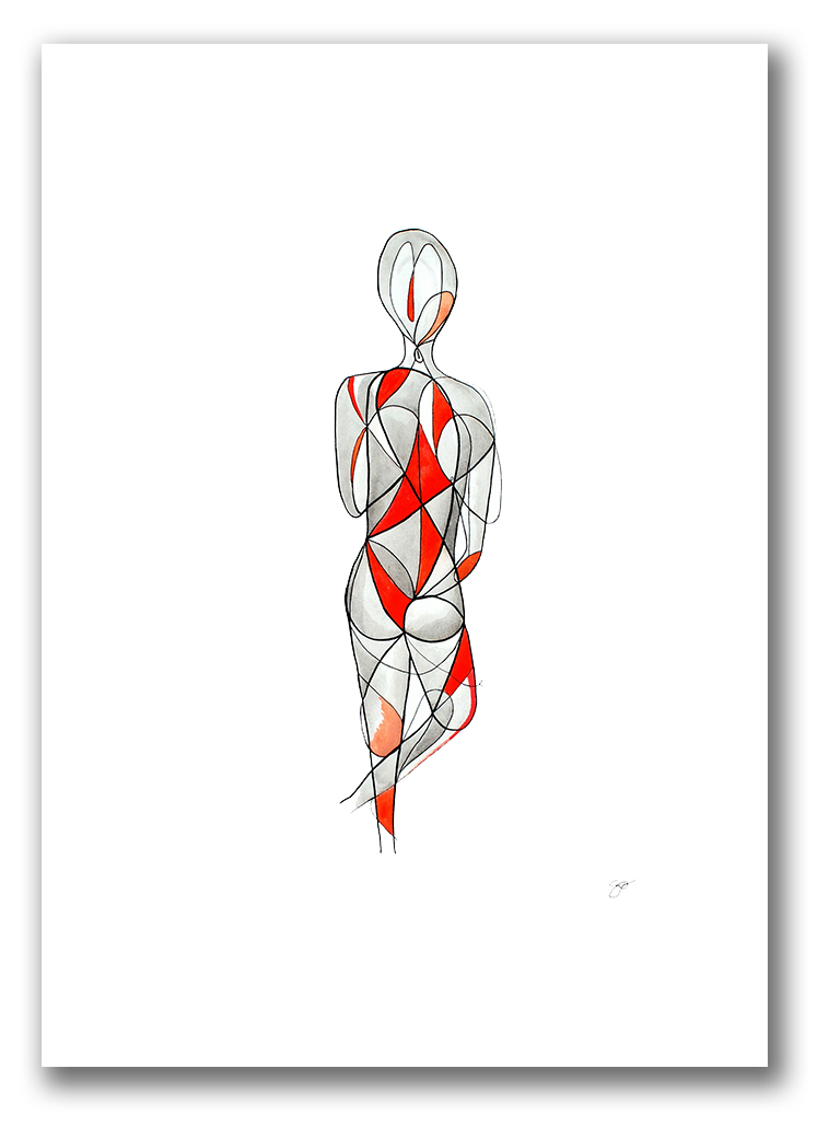 BALANCE  Watercolor + Ink 24″ x 18″