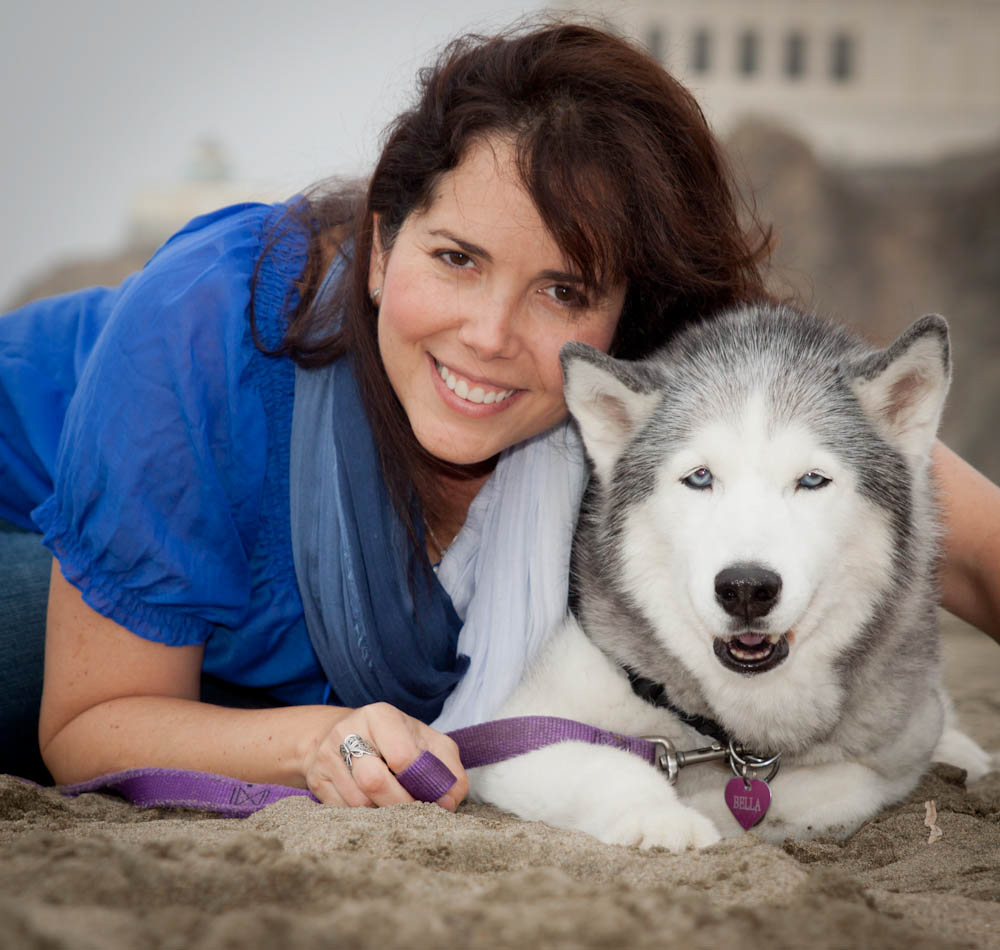 Ana V. Ramirez and her Husky Bella