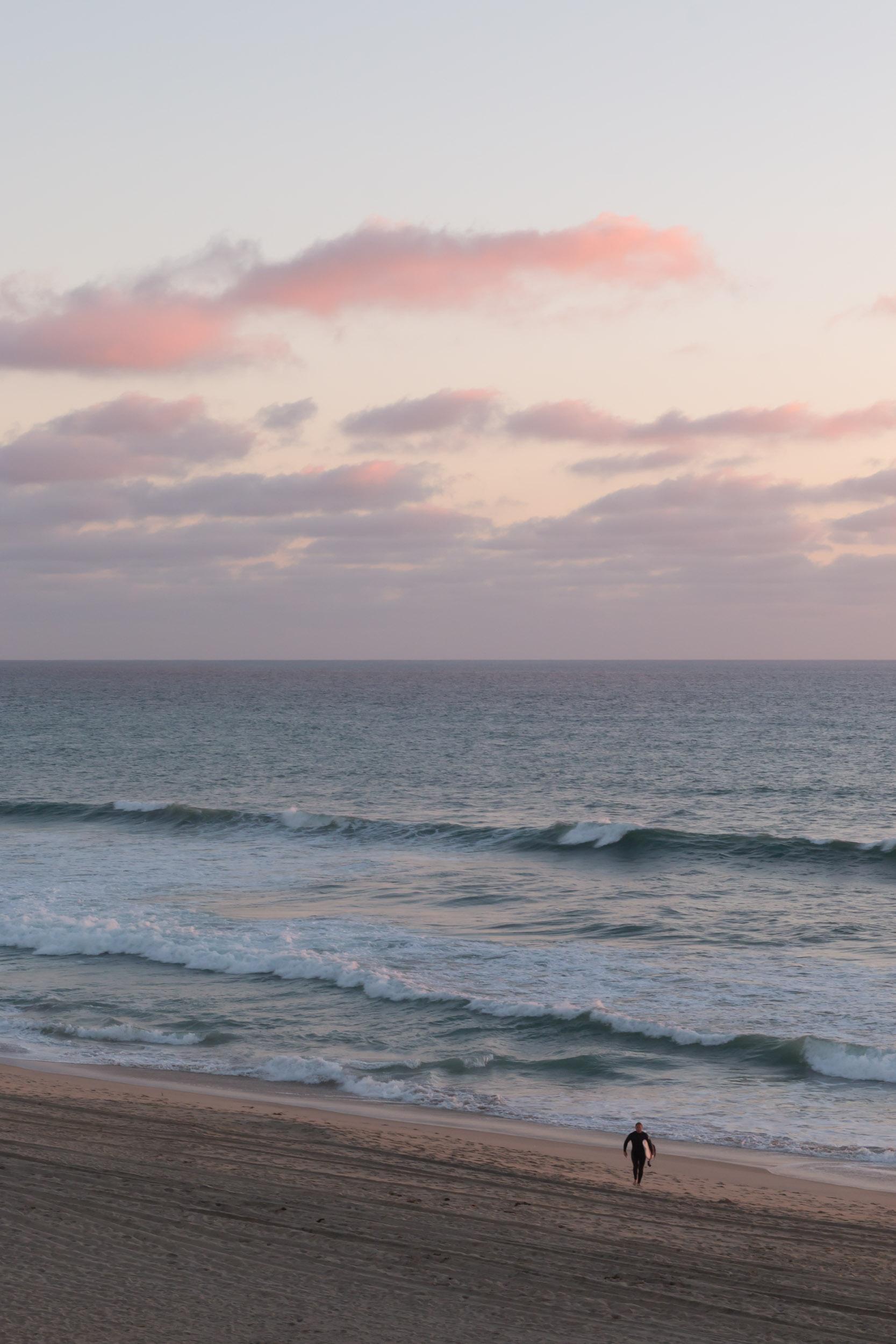 Pink Sky Lone Surfer