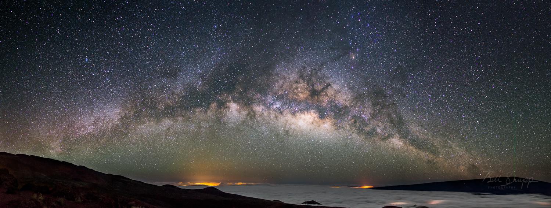 Milky Way Rising Over Hilo, Hawaii