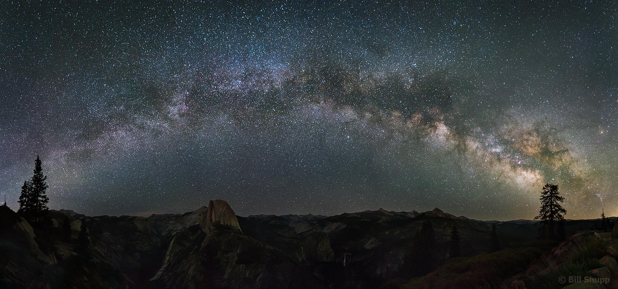 Milky Way Rising Over Half Dome, Yosemite