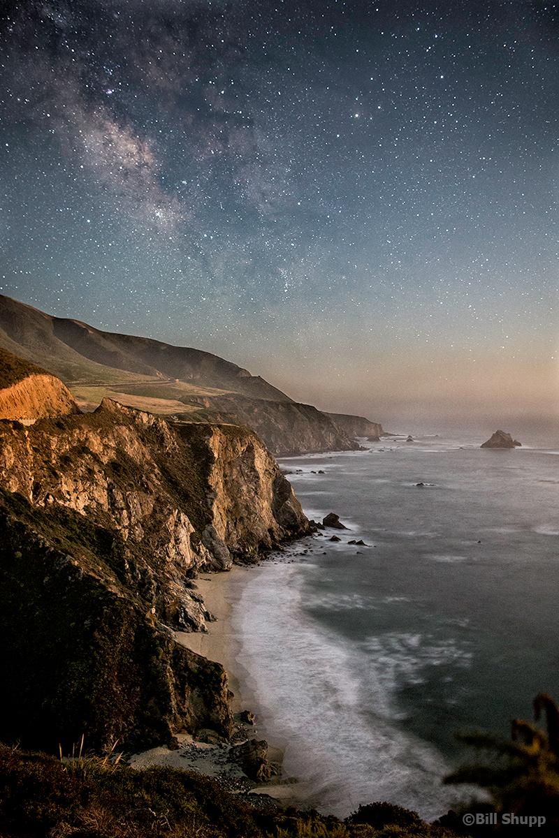 Big Sur in the Moonlight