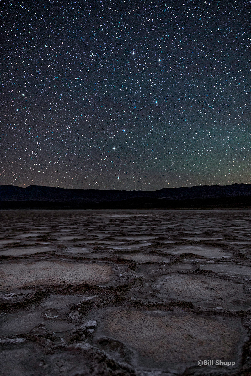 Big Dipper Over Cottonball Basin, Death Valley