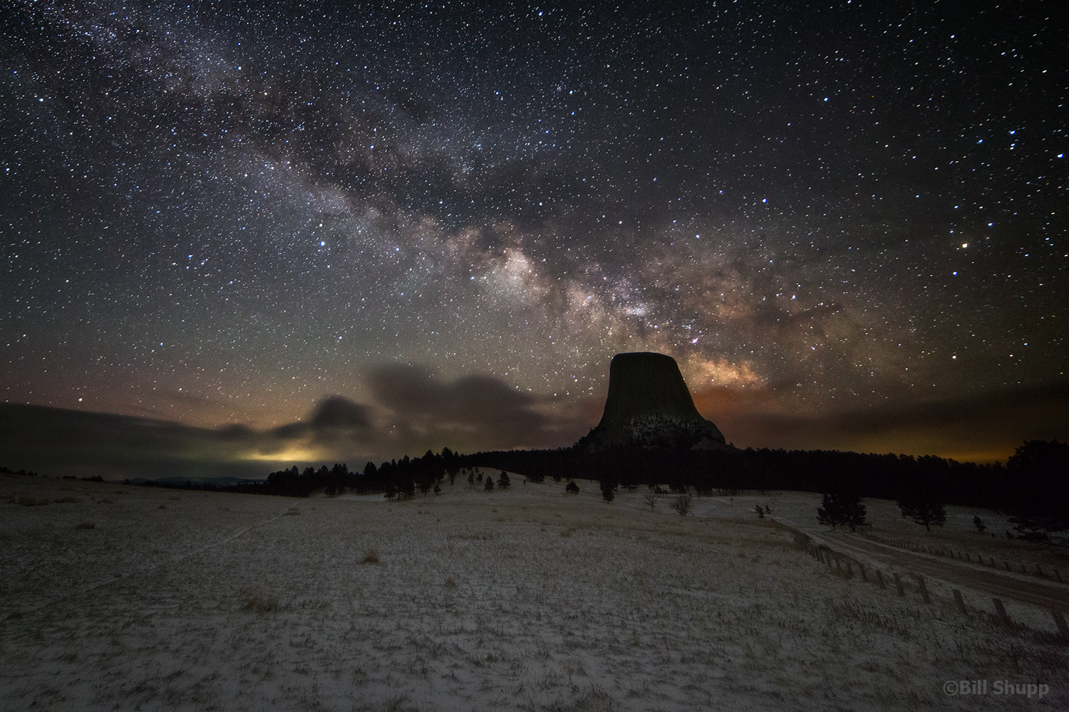 Milky Way Rising Over Devils Tower