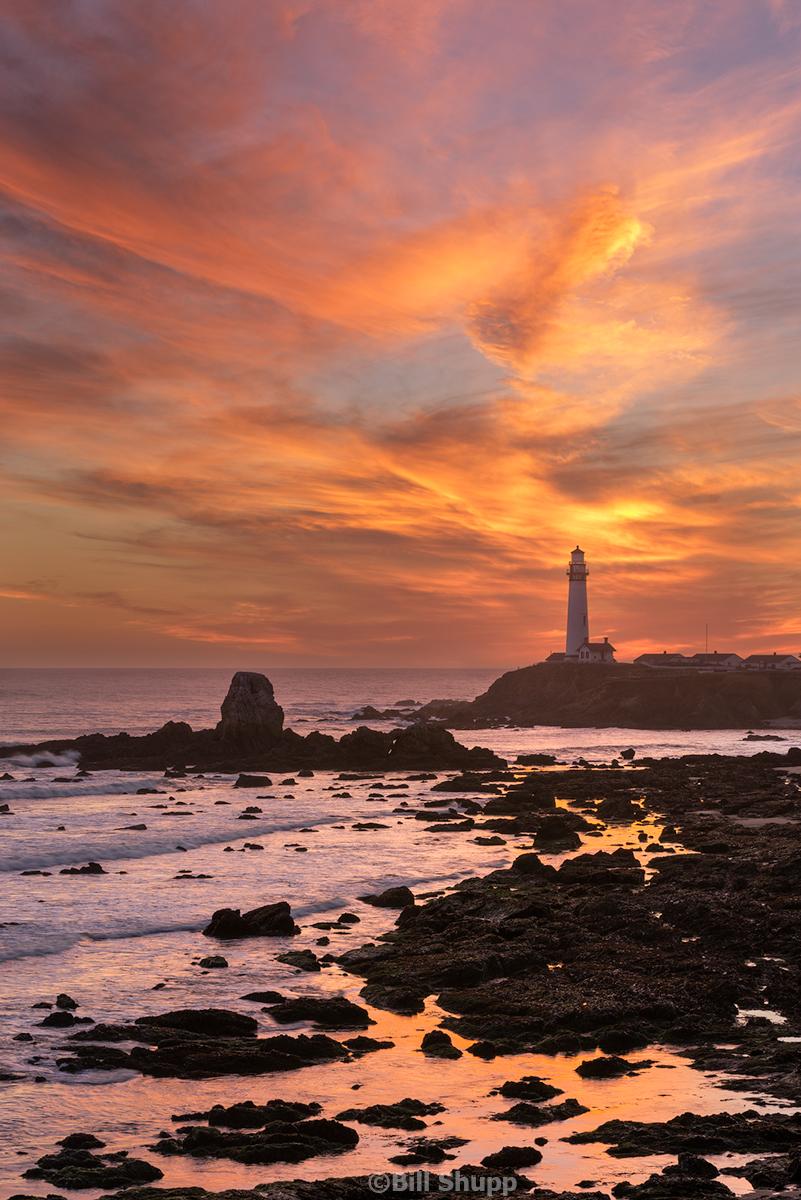 Sunset on Pigeon Point Lighthouse