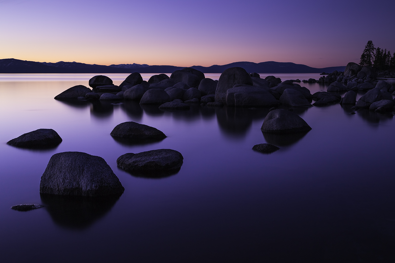 Twilight at Zephyr Cove, Lake Tahoe