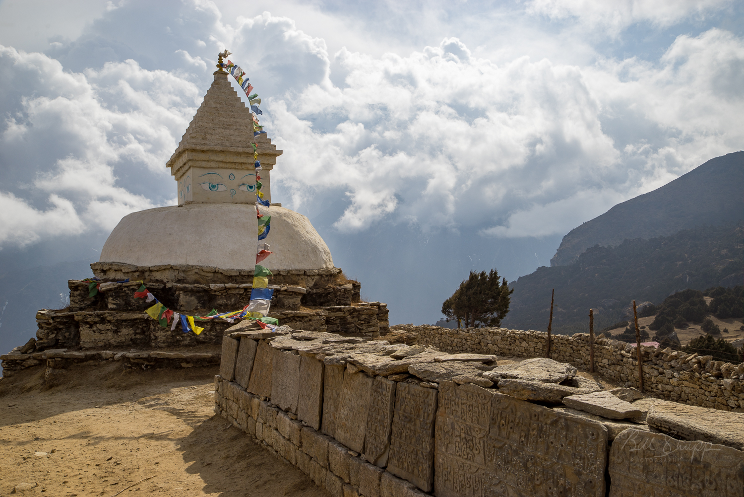 Stupa north of Namche Bazaar