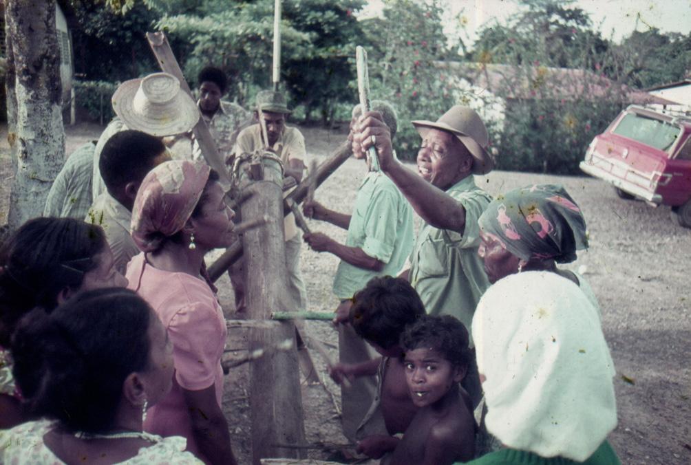 Drummers in Barlovento, Venezuela, 1976. Image: Oswaldo Lares